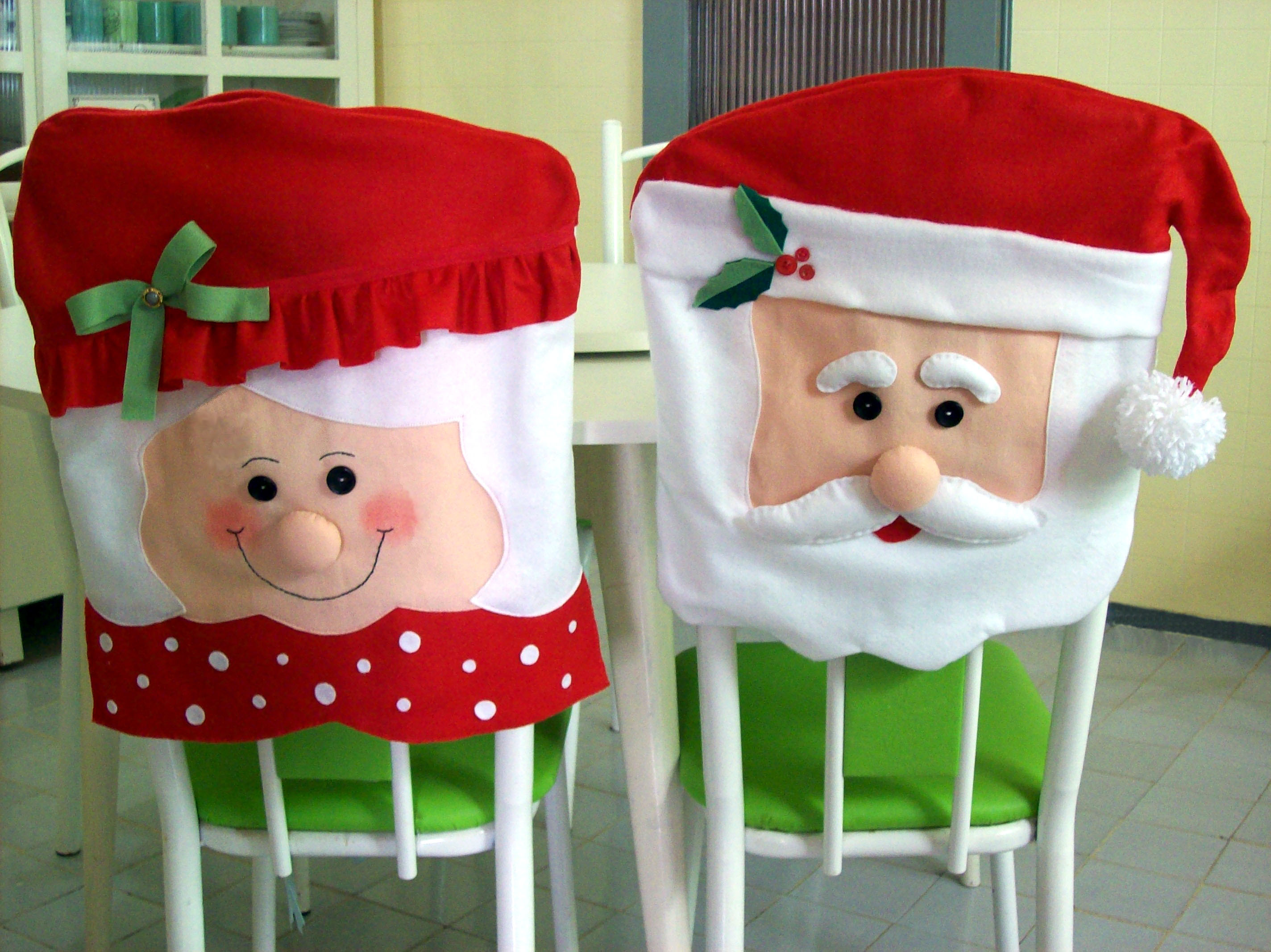 Capa De Cadeira Papai Noel No Elo7 Bem Querer Store 467e94