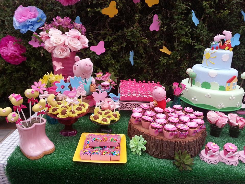 Decoração infantil Jardim da Peppa  Se eu fosse um cupcake  Elo7
