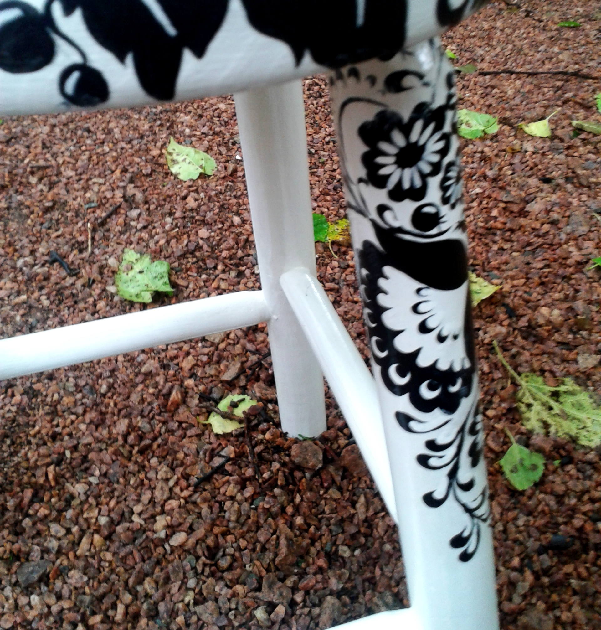 banco de madeira floral preto e branco moveis de madeira banco de  #638645 1920x2012