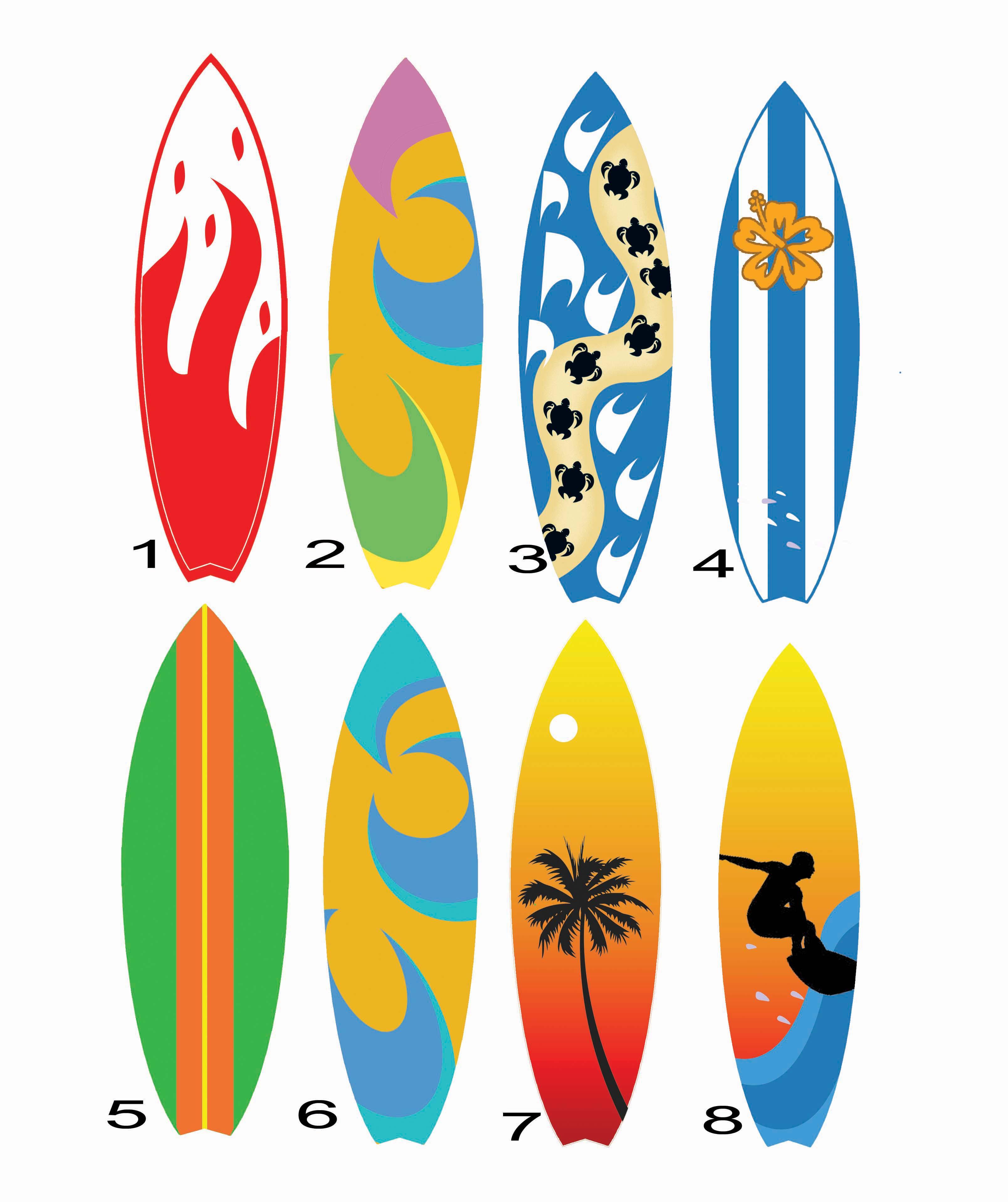 Adesivos prancha de surf efeito wood elo7 - Dibujos para tablas de surf ...