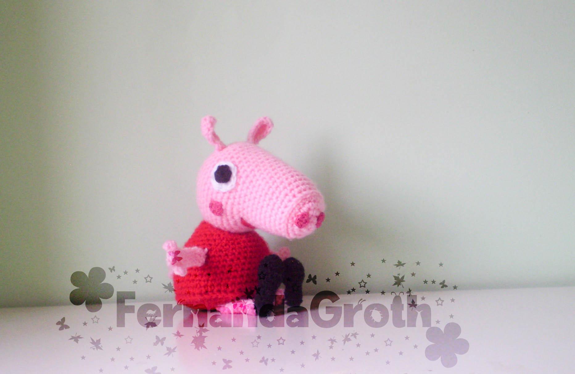 Peppa Pig a crochet - YouTube   1214x1864