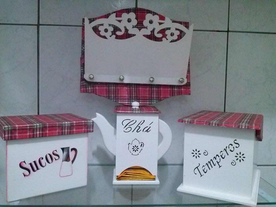 Artesanato Em Arame ~ Kit de Cozinha Personalizado Mdf NOSSO ATELIE ARTE E DECORA u00c7ÃO Elo7
