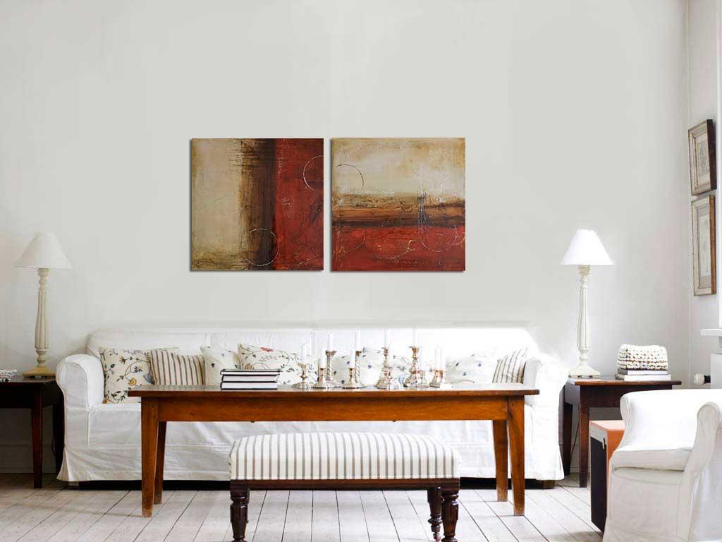 Pintura abstrata acrilica