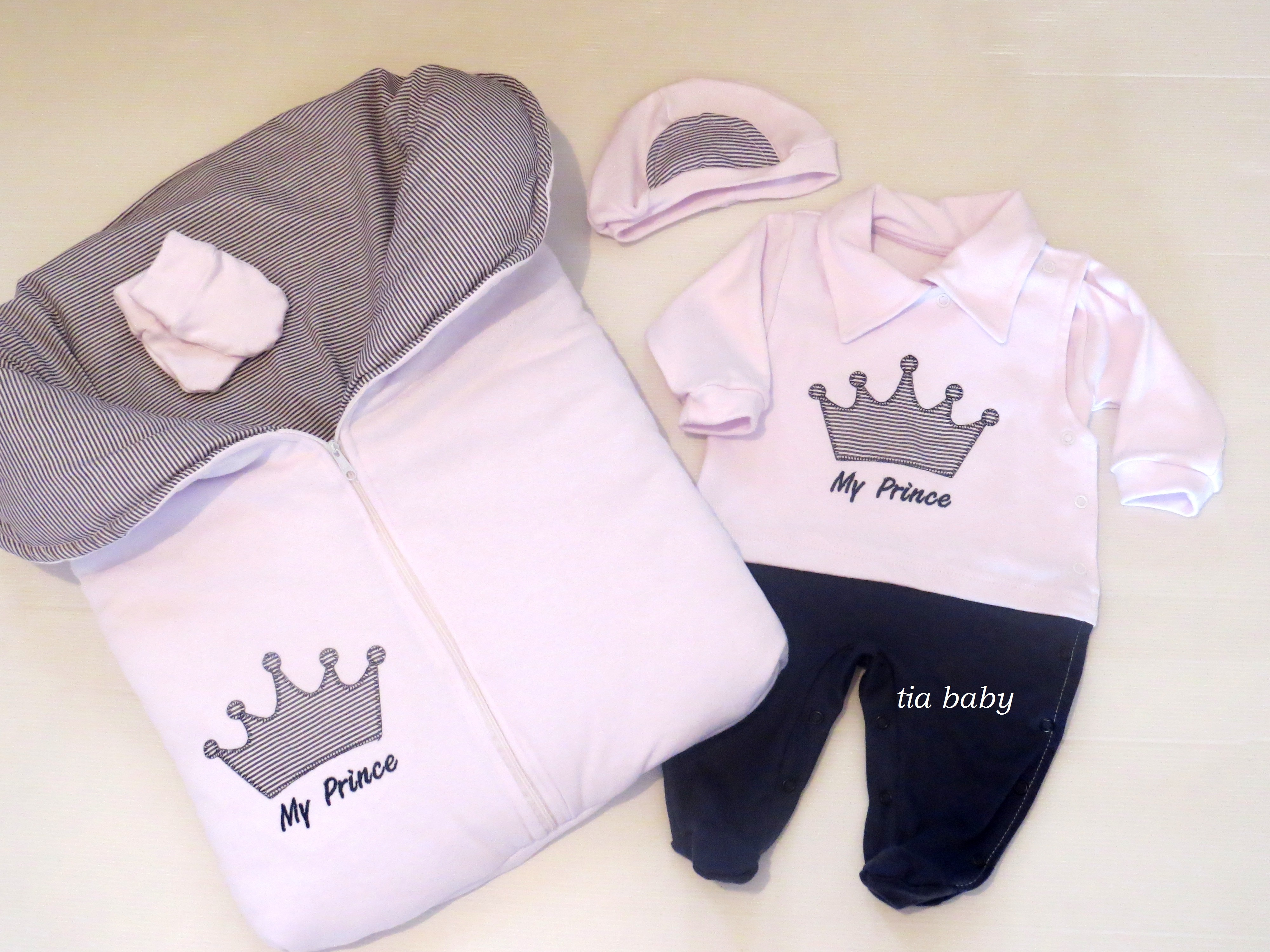 Saída De Maternidade Realeza Marinho   Tia Baby   Elo7