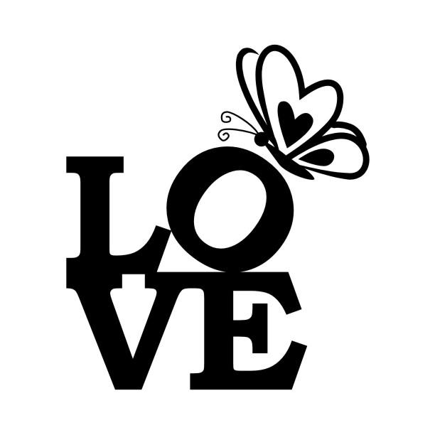 Adesivo De Parede Justin Bieber ~ Adesivo de Parede Love e Borboleta Vetor e Imagem Elo7