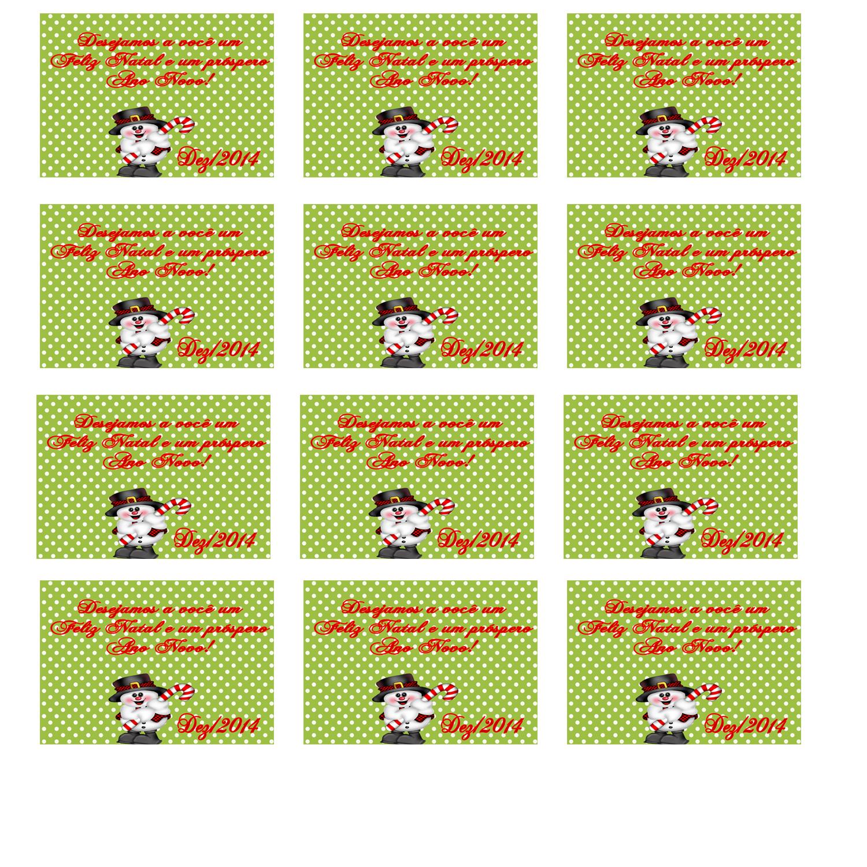 Cartao Tags De Natal Modelo E Elo7