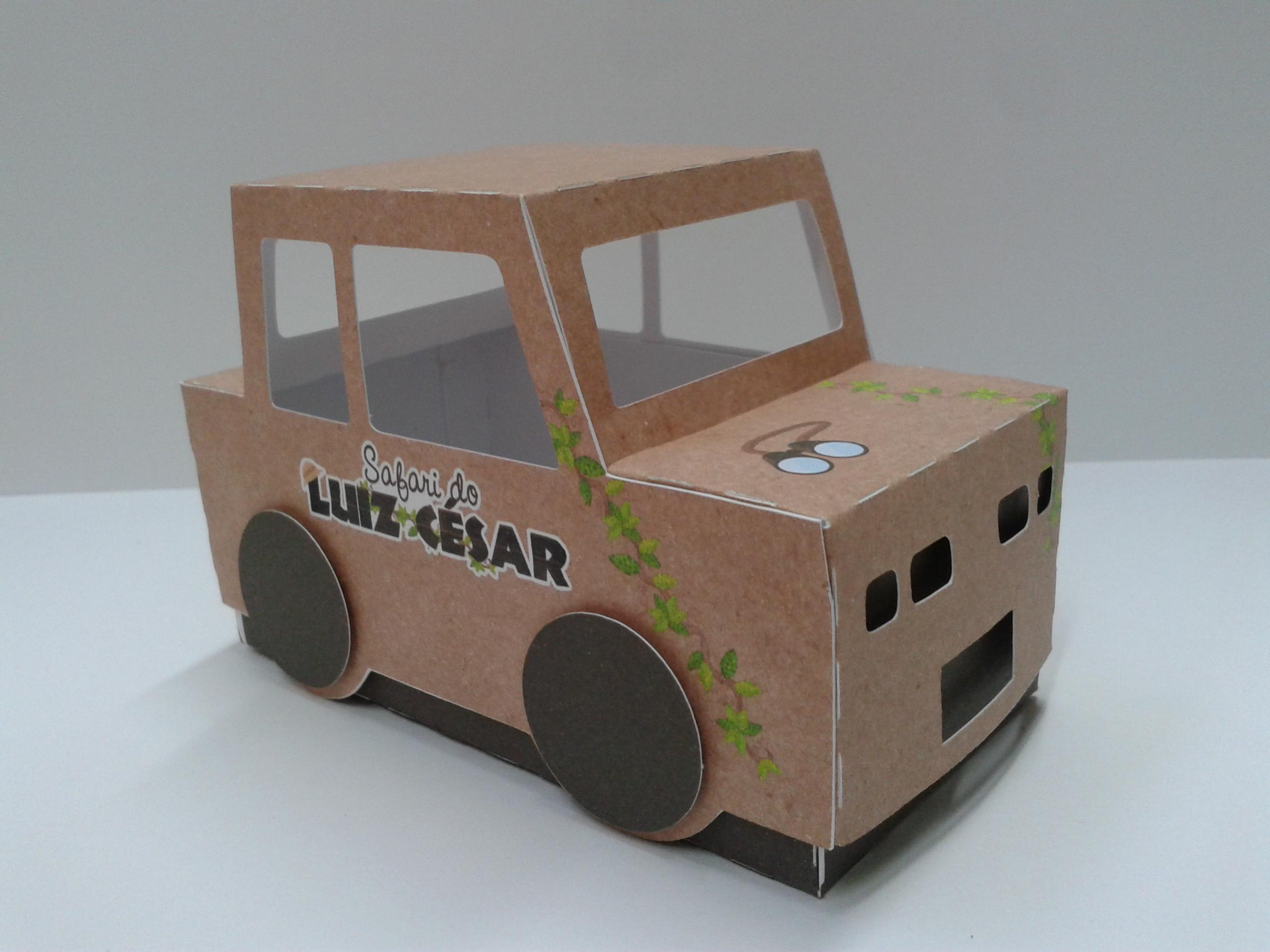Carro De Papelao Safari Elo7