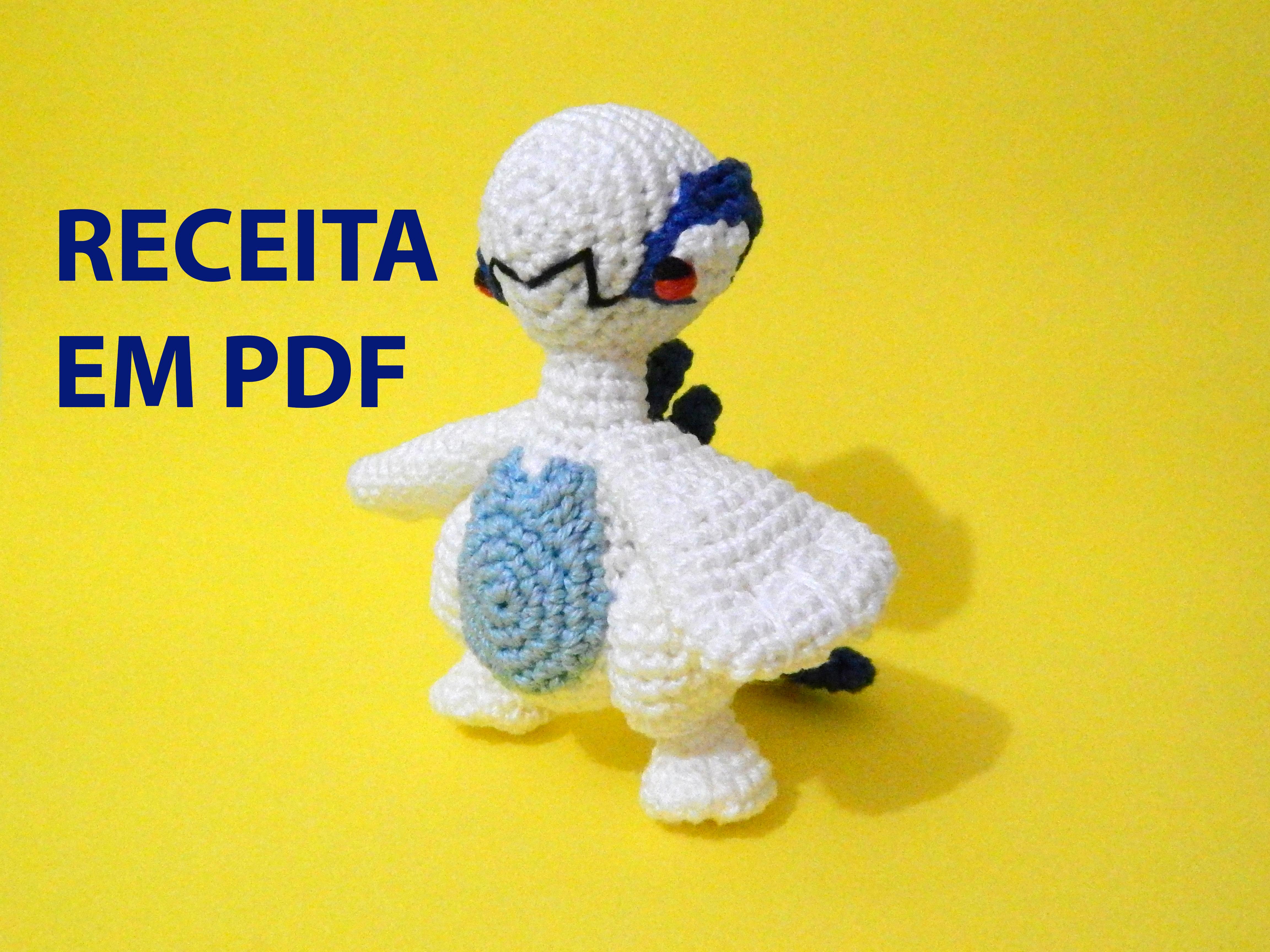 Amigurumi To Sell : Receita em PDF - Amigurumi Lugia chibi Icedeb Elo7