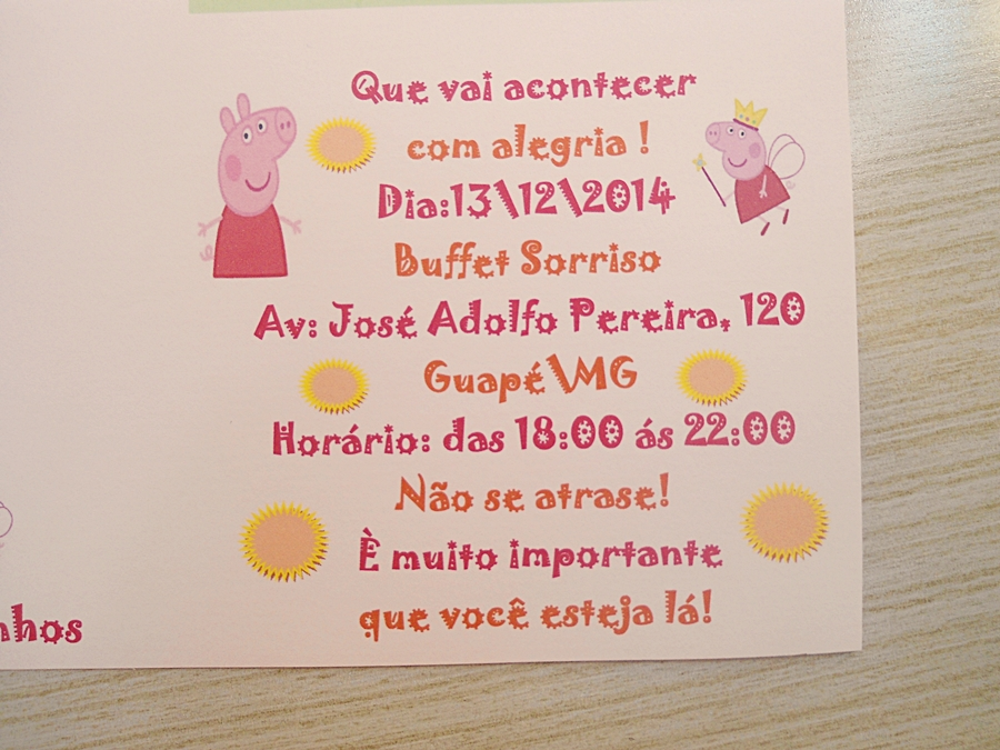 Convite Ibiza Aniversário Peppa Pig