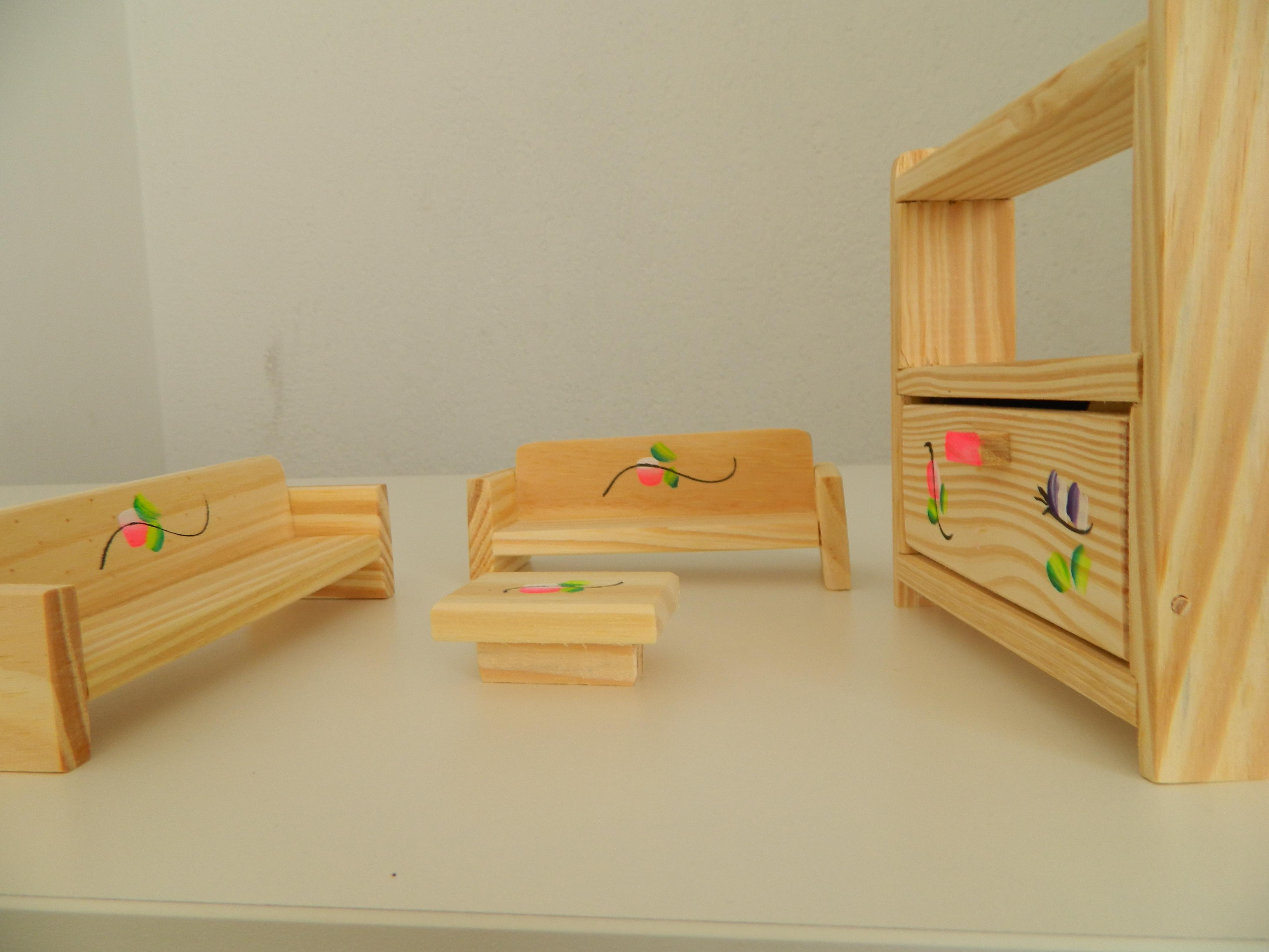 Móveis para Casinha de Bonecas Sala Petit Artiste Elo7 #B81713 4320x3240