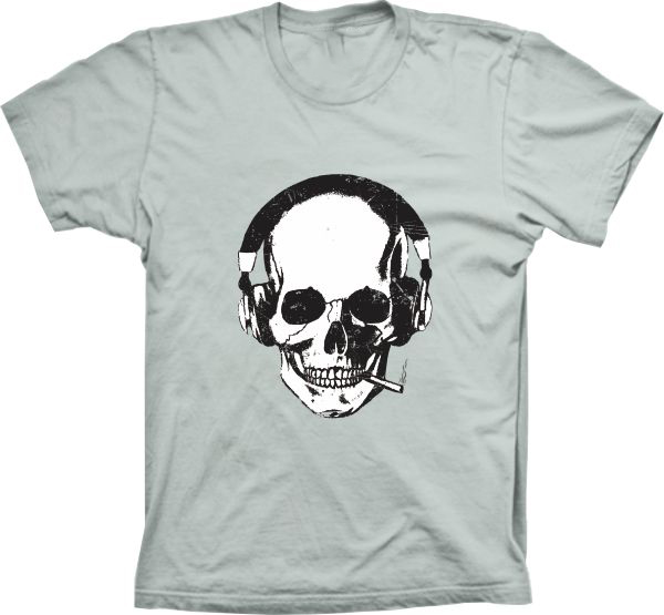 a20a7d1d5 Camiseta Caveira - Fone de Ouvido no Elo7