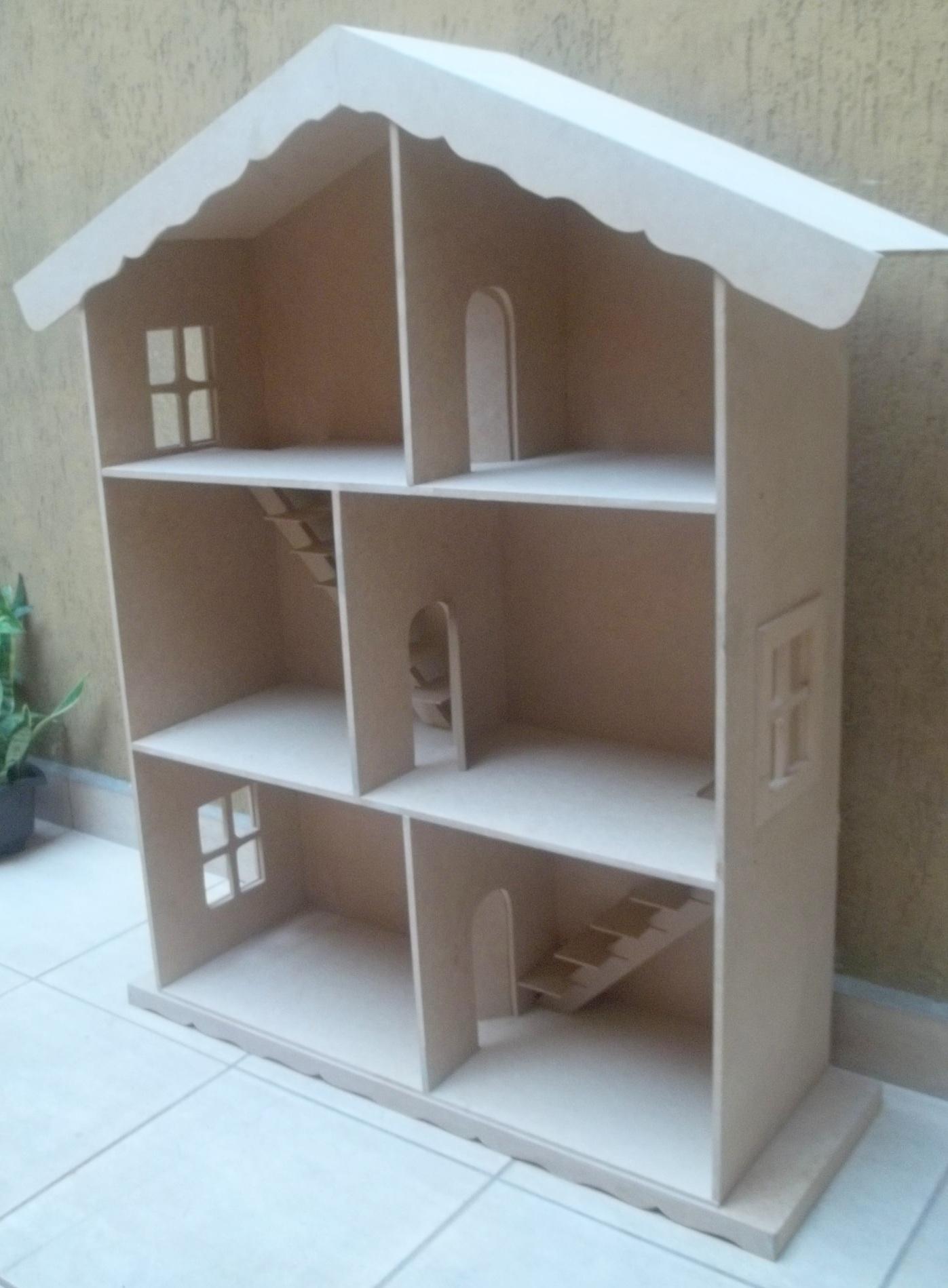 casa de madeira para barbie casinha de boneca casa de madeira para  #416F8A 1397x1899