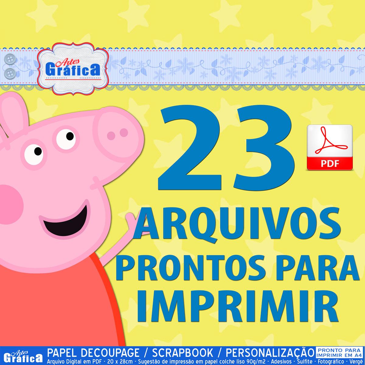 Peppa Pig Kit Pronto Para Imprimir 036 No Elo7 Arte Digital