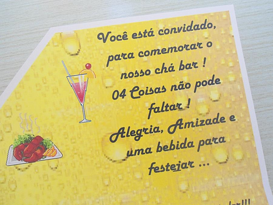 Convite Ibiza Chá Bar No Elo7 Ferraz Convites 48e4de