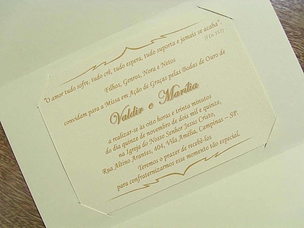 Convite Bodas Ouro Cancun No Elo7 Papelac Convites Loja 01 48f775