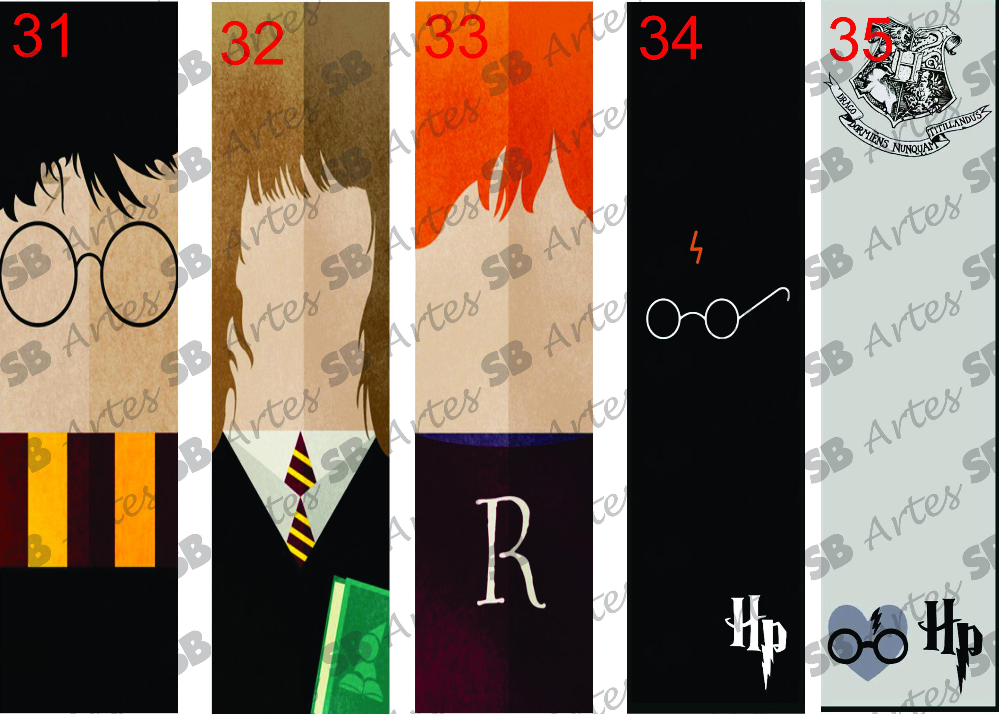 Marcadores De Pagina Harry Potter No Elo7 Sb Artes 48f9d6