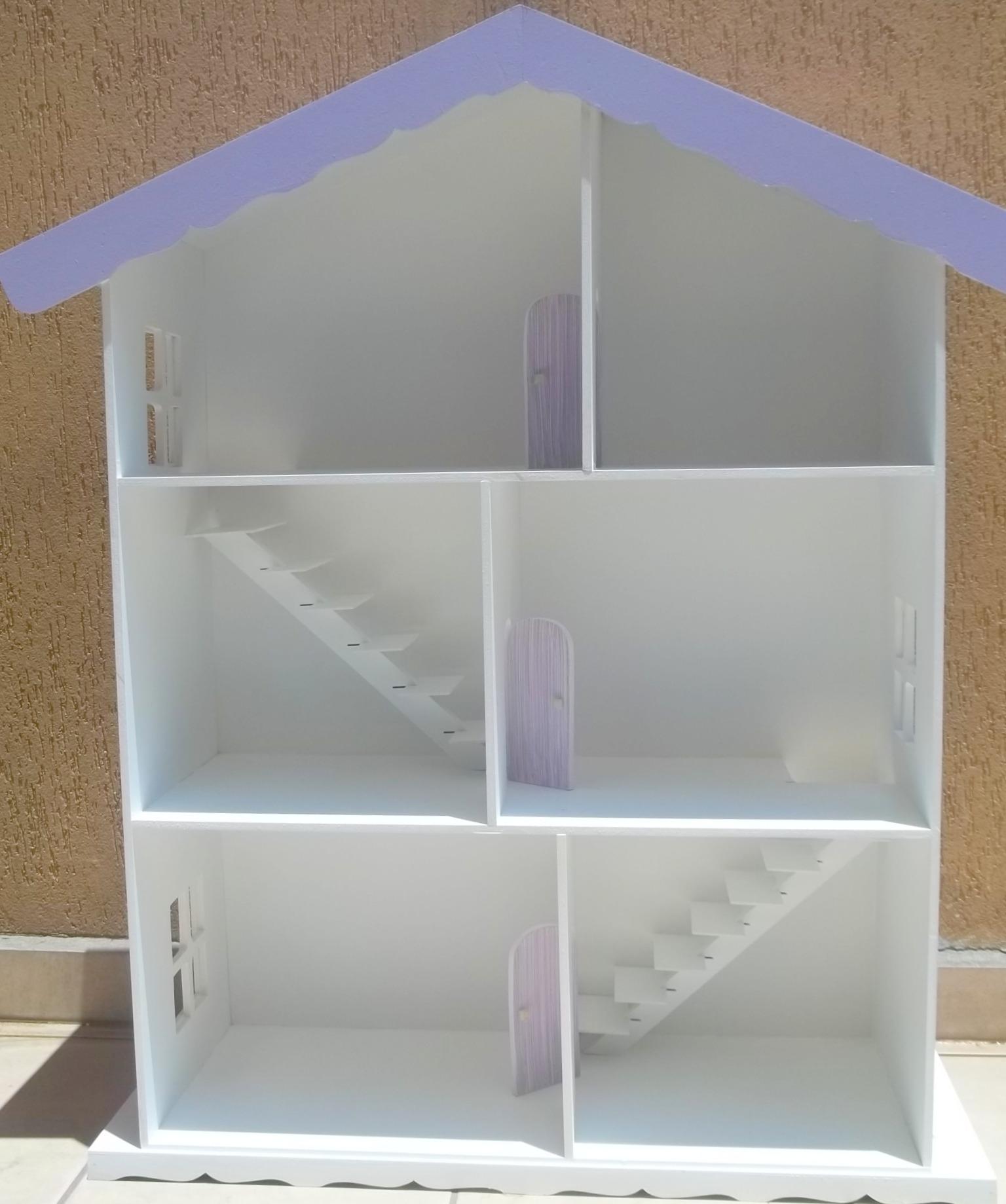 casa de madeira para barbie pintada adriana pantoja   ateli elo7