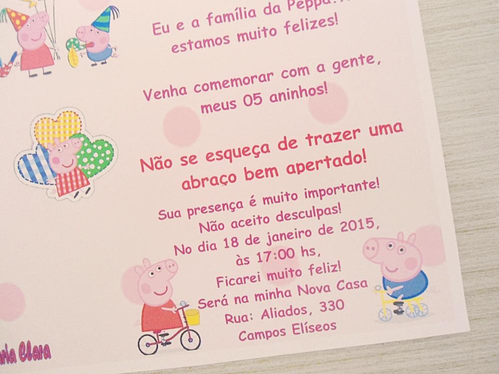 Convite Ibiza Aniversário Peppa Pig No Elo7 Ferraz Convites 492f82