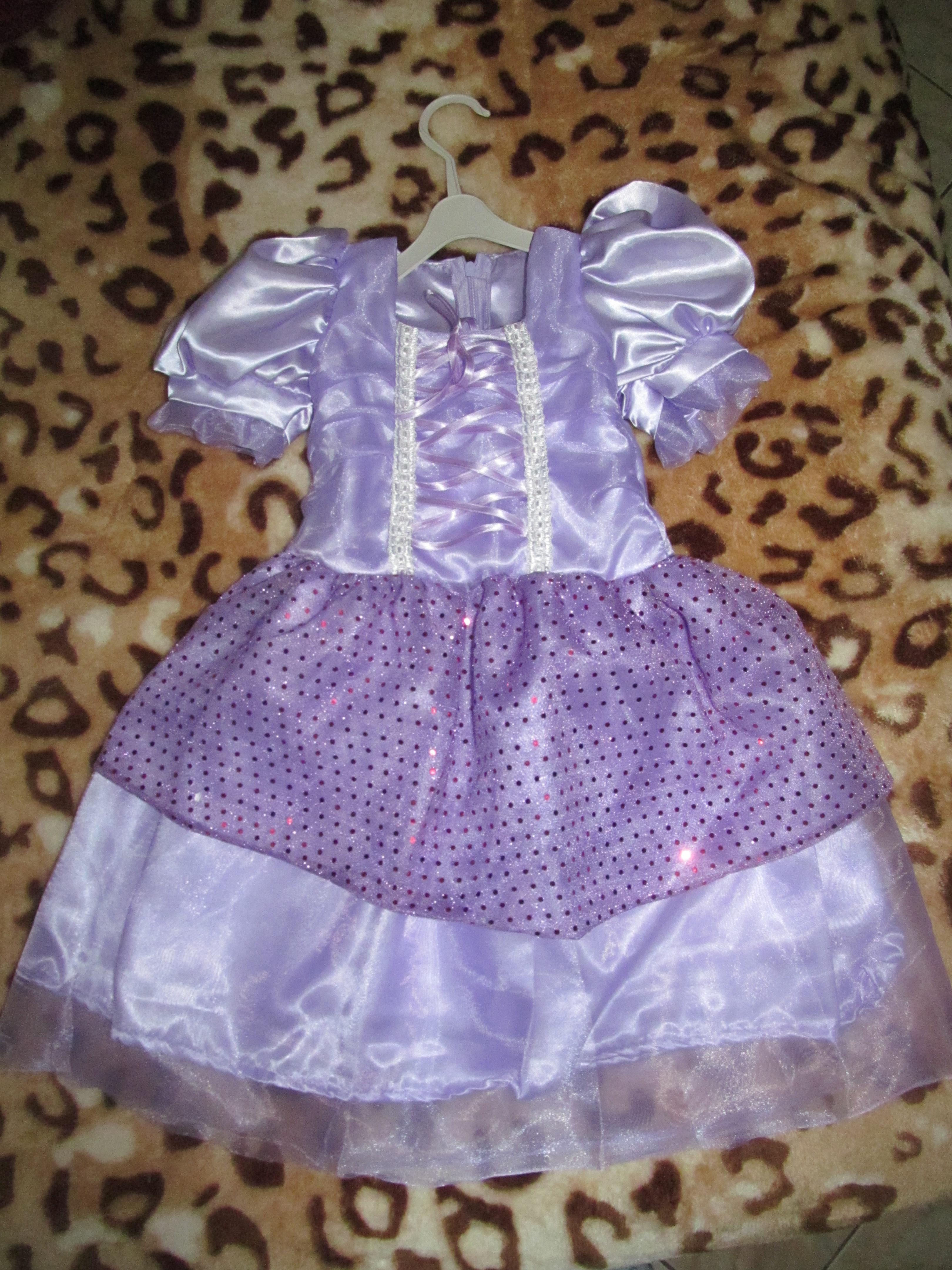 Vestido Princesa Sofia Lilas | Elo7