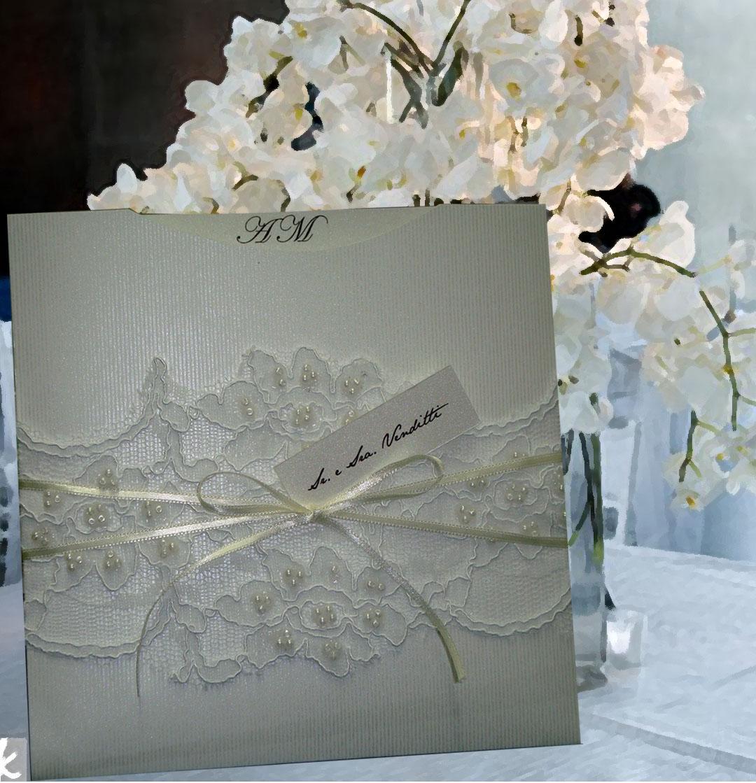 Convite De Casamento Com Renda Elo7