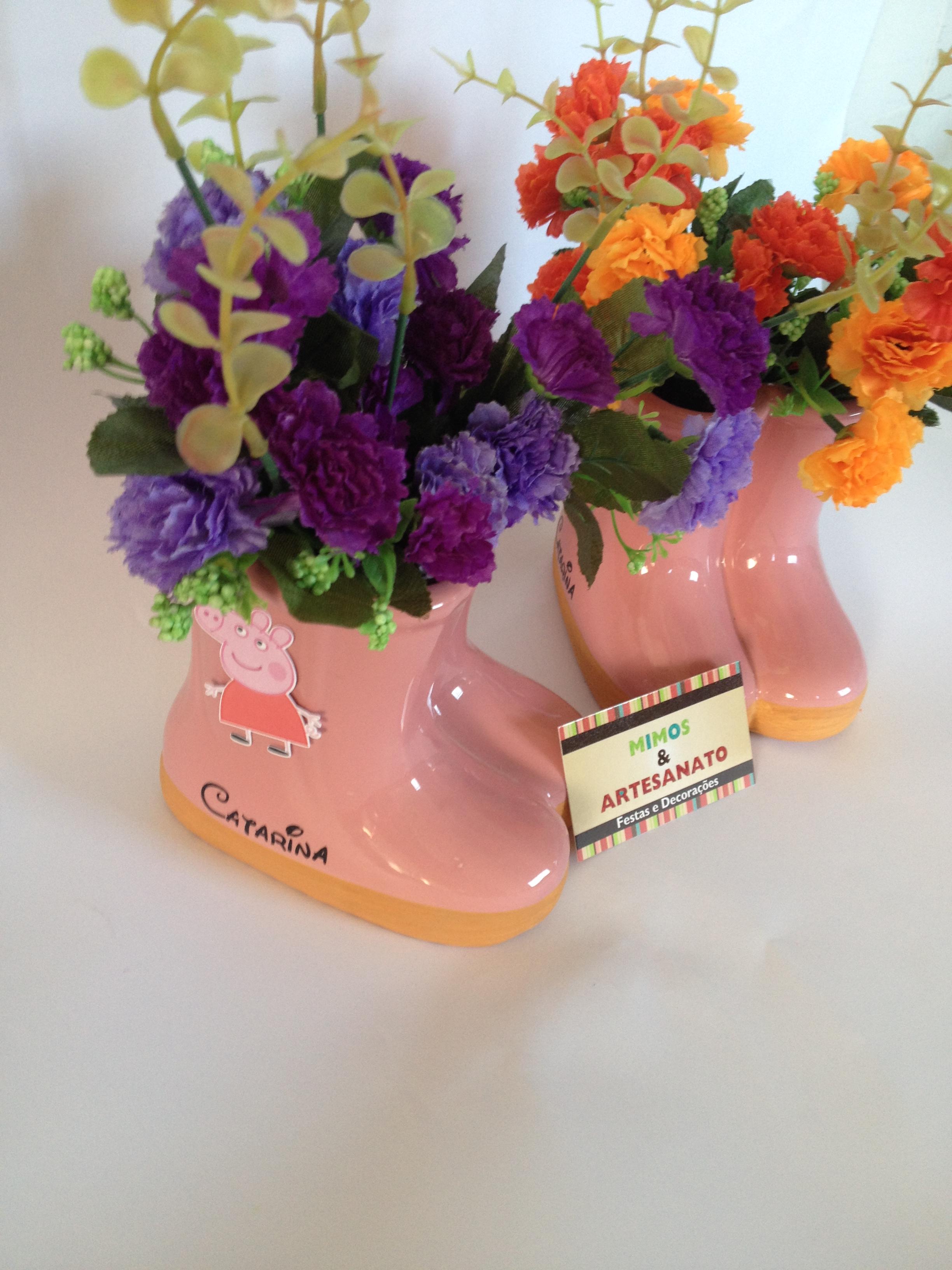 Bota peppa pig mimos artesanato elo7 for Marcas de vajillas de porcelana