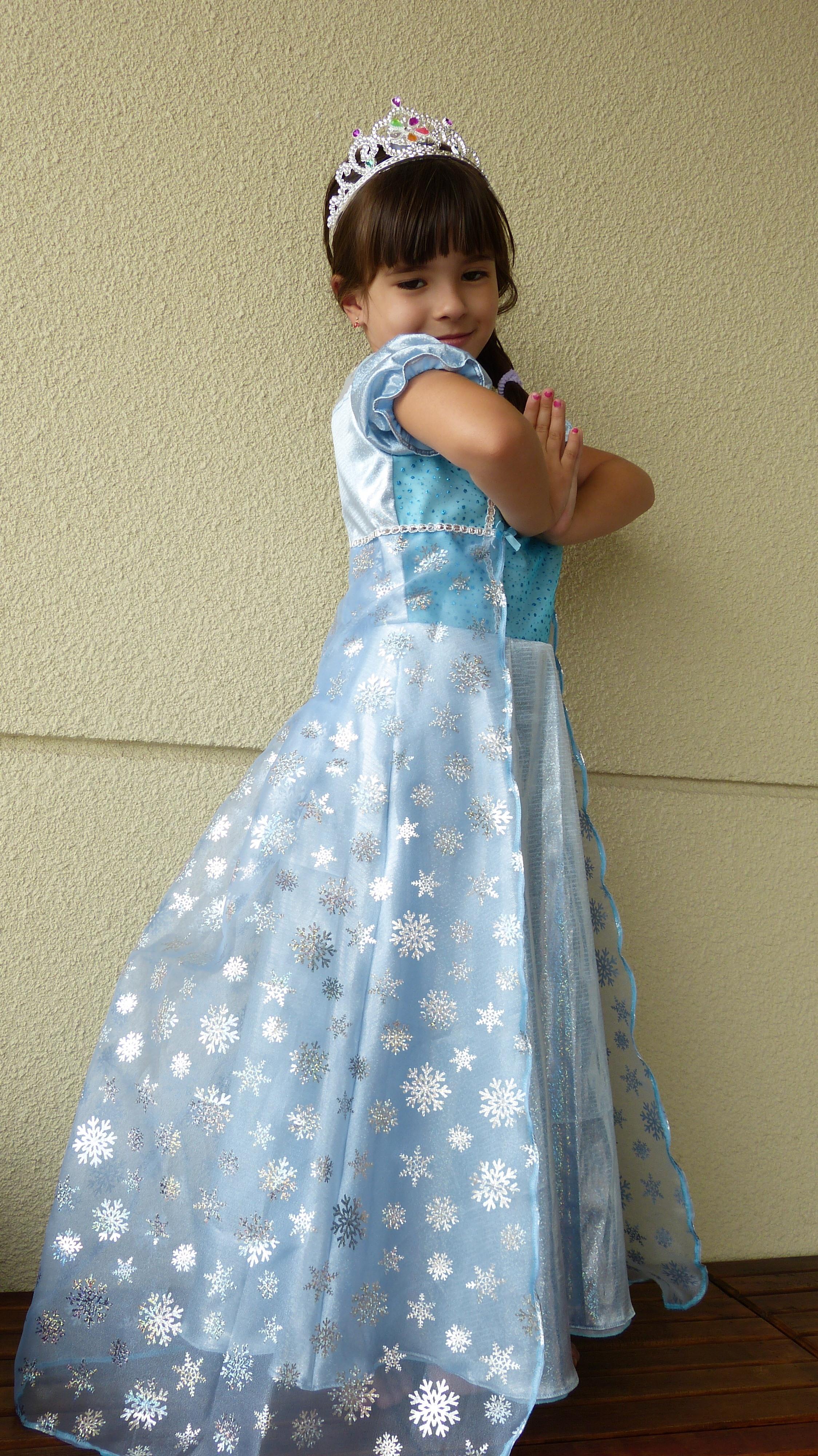 Vestido da frozen manga curta
