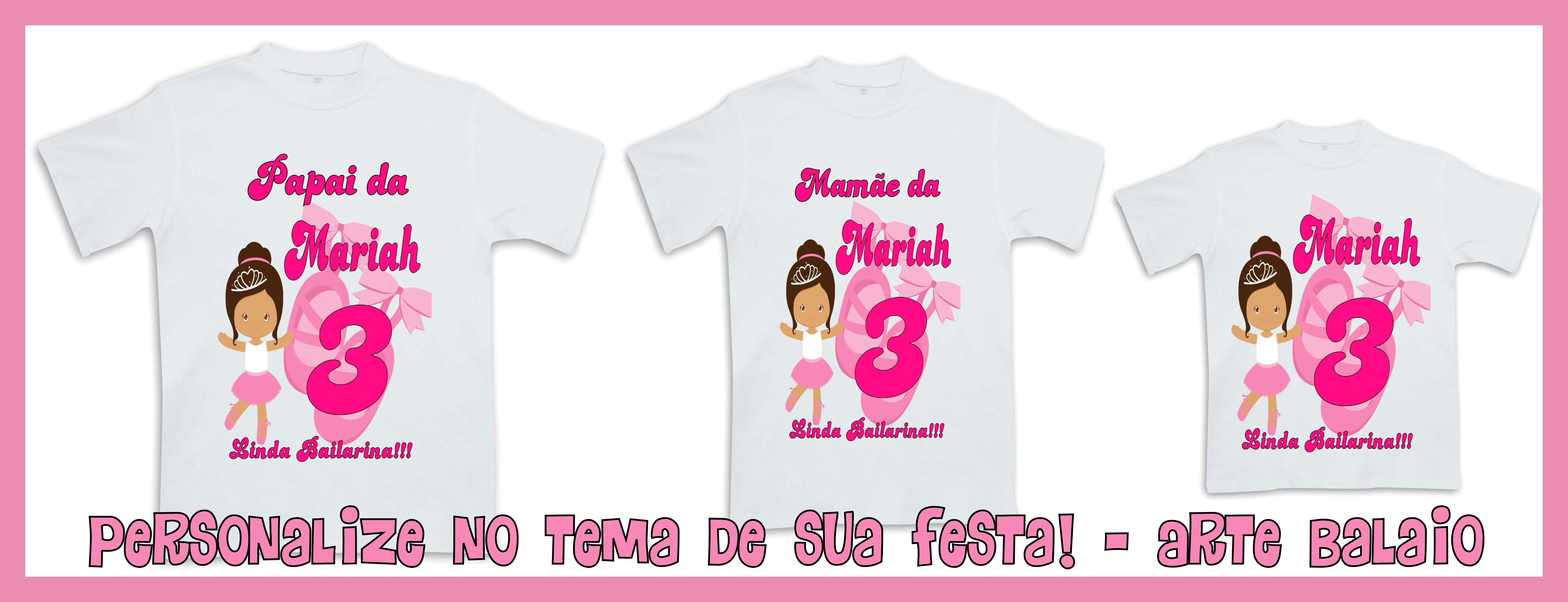 Camiseta Personalizada Bailarina  0f58cf1f862