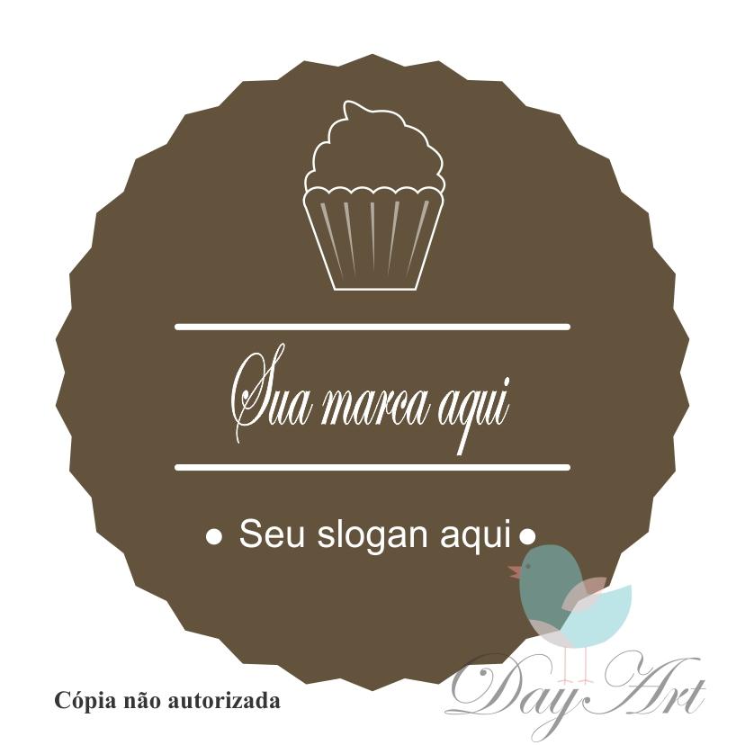 Slogan com Cupcake | Elo7