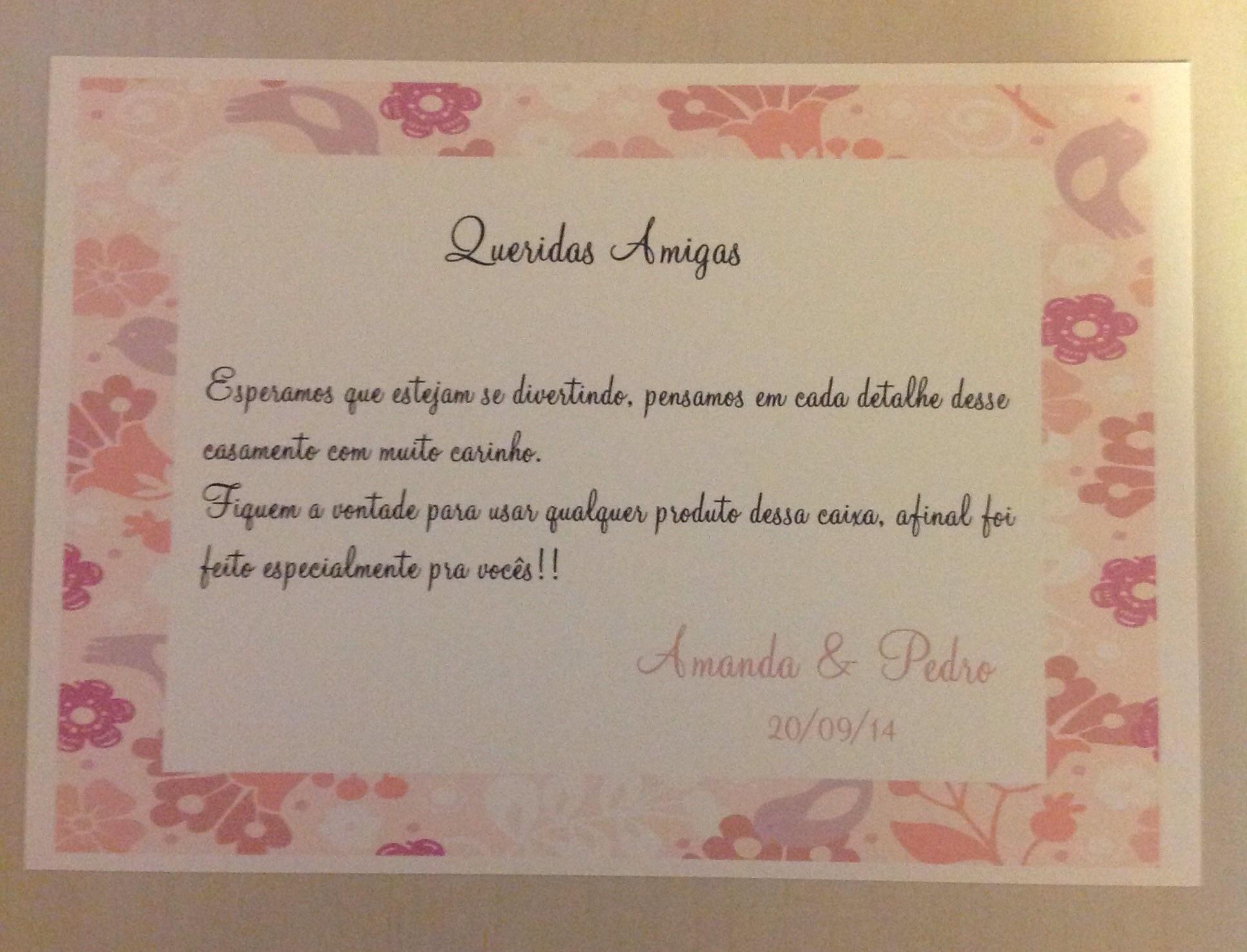 Cartão mensagem Caixa Kit Toillet  ARTE TOP DESIGN  Papelaria Personalizada -> Recado Banheiro Feminino