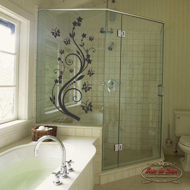 Armario Pequeno Para Banheiro ~ Adesivo para Box de Banheiro 02 Arte de Colar Adesivos Decorativos Elo7