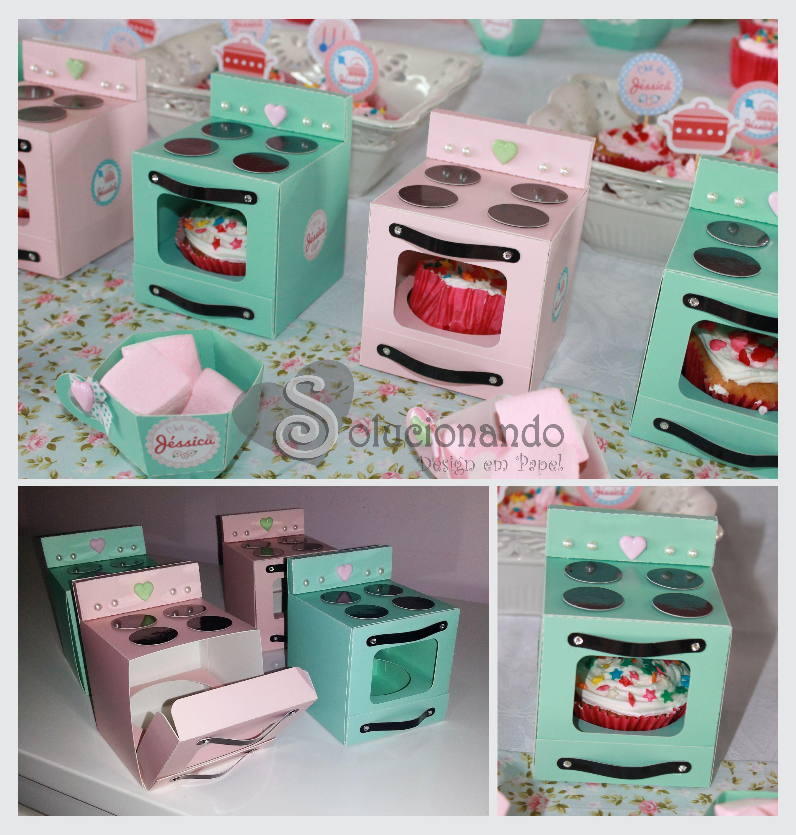 Artesanato Facil Para Halloween ~ Fog u00e3o de Papel Caixa para Cupcake  Solucionando  Design em Papel Elo7