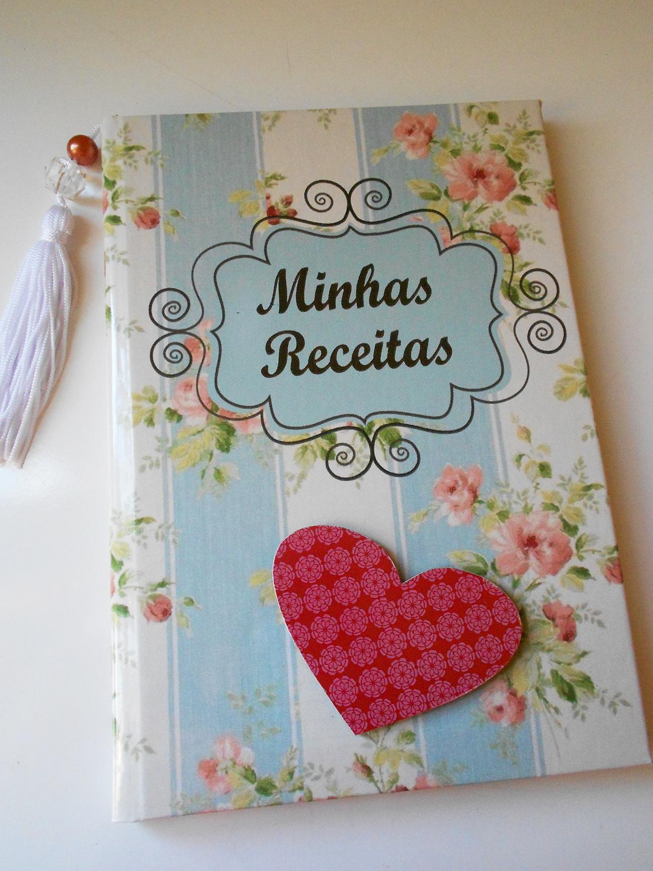 """Caderno de receitas """"Floral vintage""""   Papel com Artes   Elo7"""