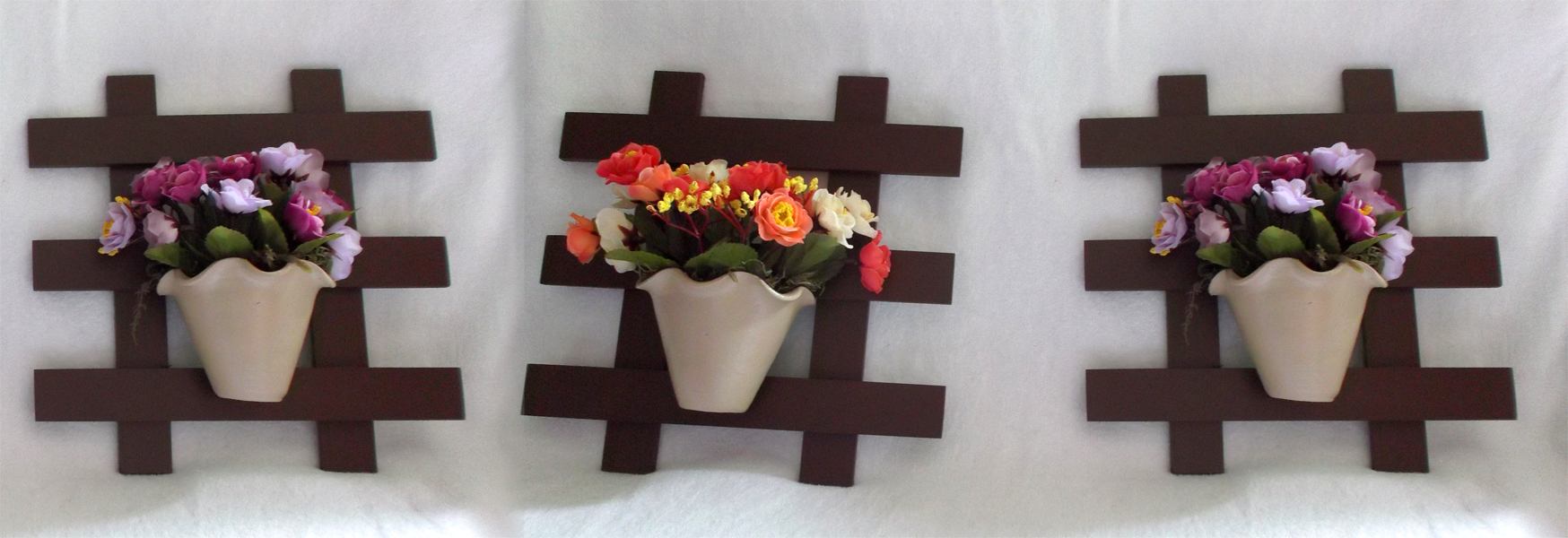 Suficiente Trio de Treliça com Vaso de Flor no Elo7   Toque de Amor Presentes  NL03