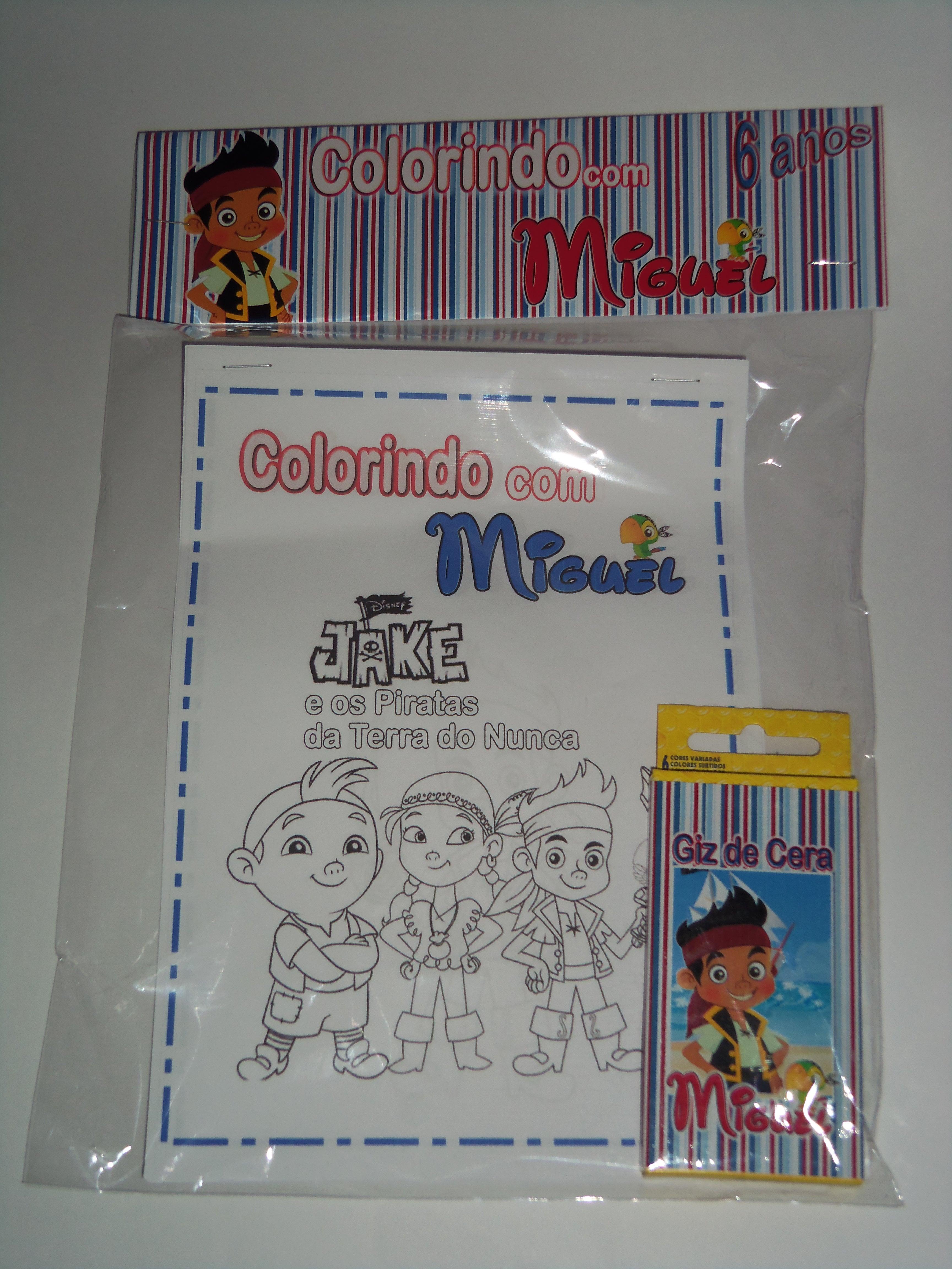 Kit De Colorir Jake E Os Piratas No Elo7 Artesanatos Doce