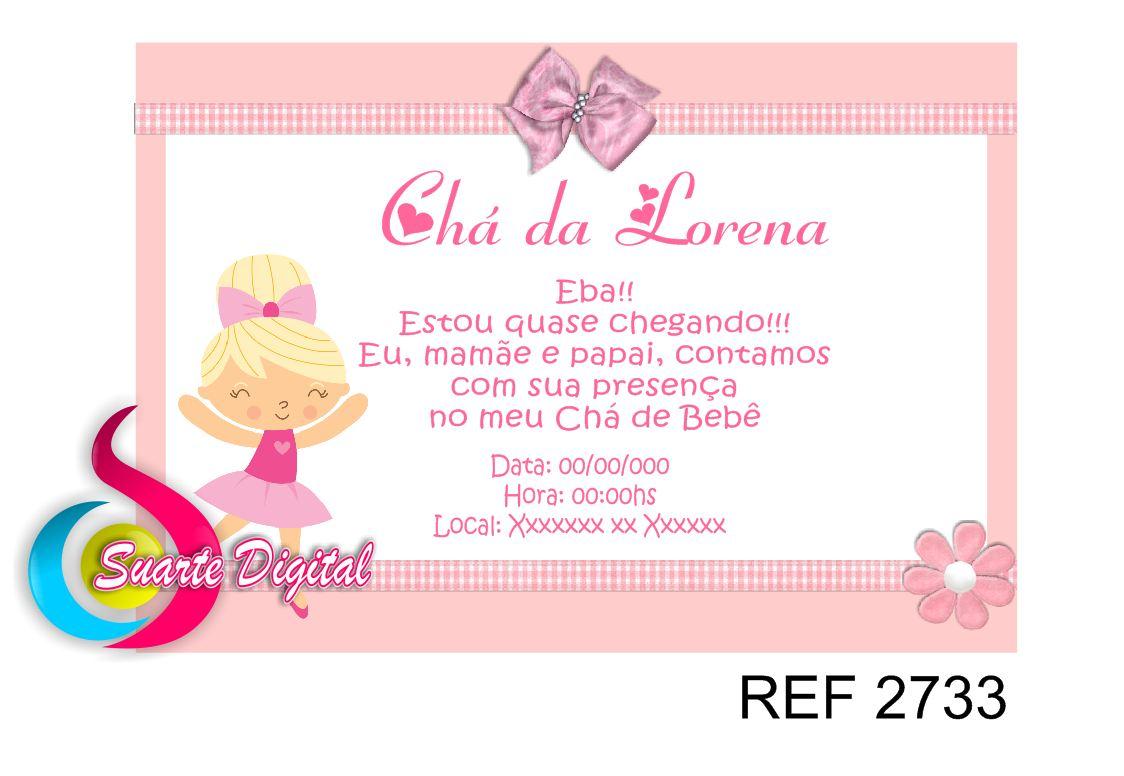 Convite Chá De Bebê Bailarina Elo7
