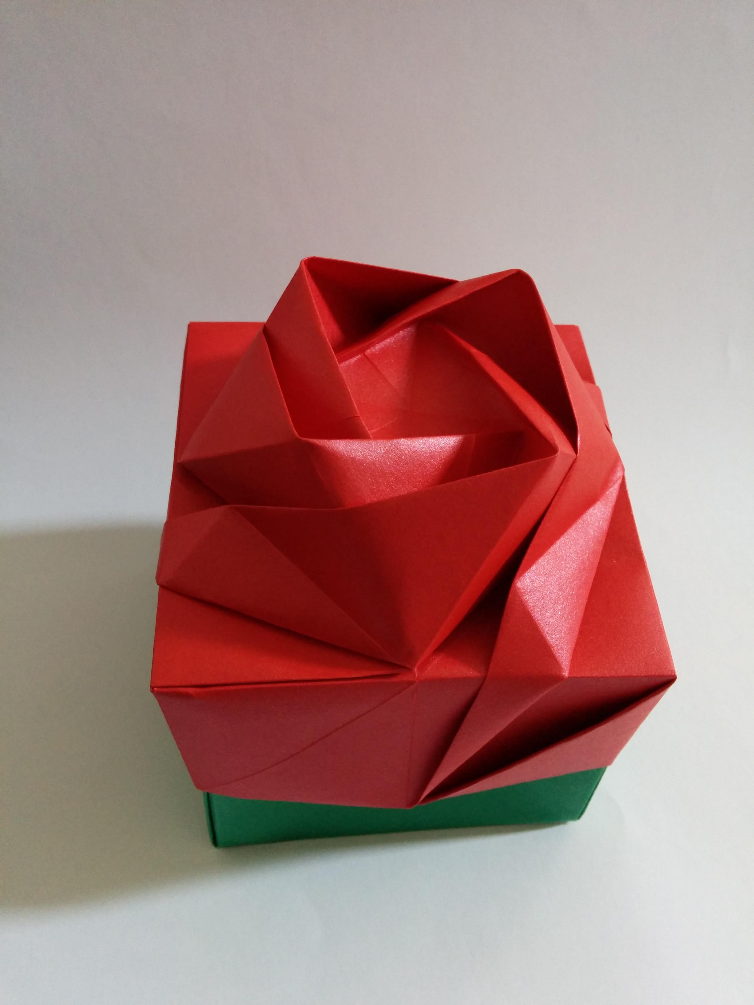 Caixa Rosa Origami No Elo7 Origami By Tchami 4ba12f