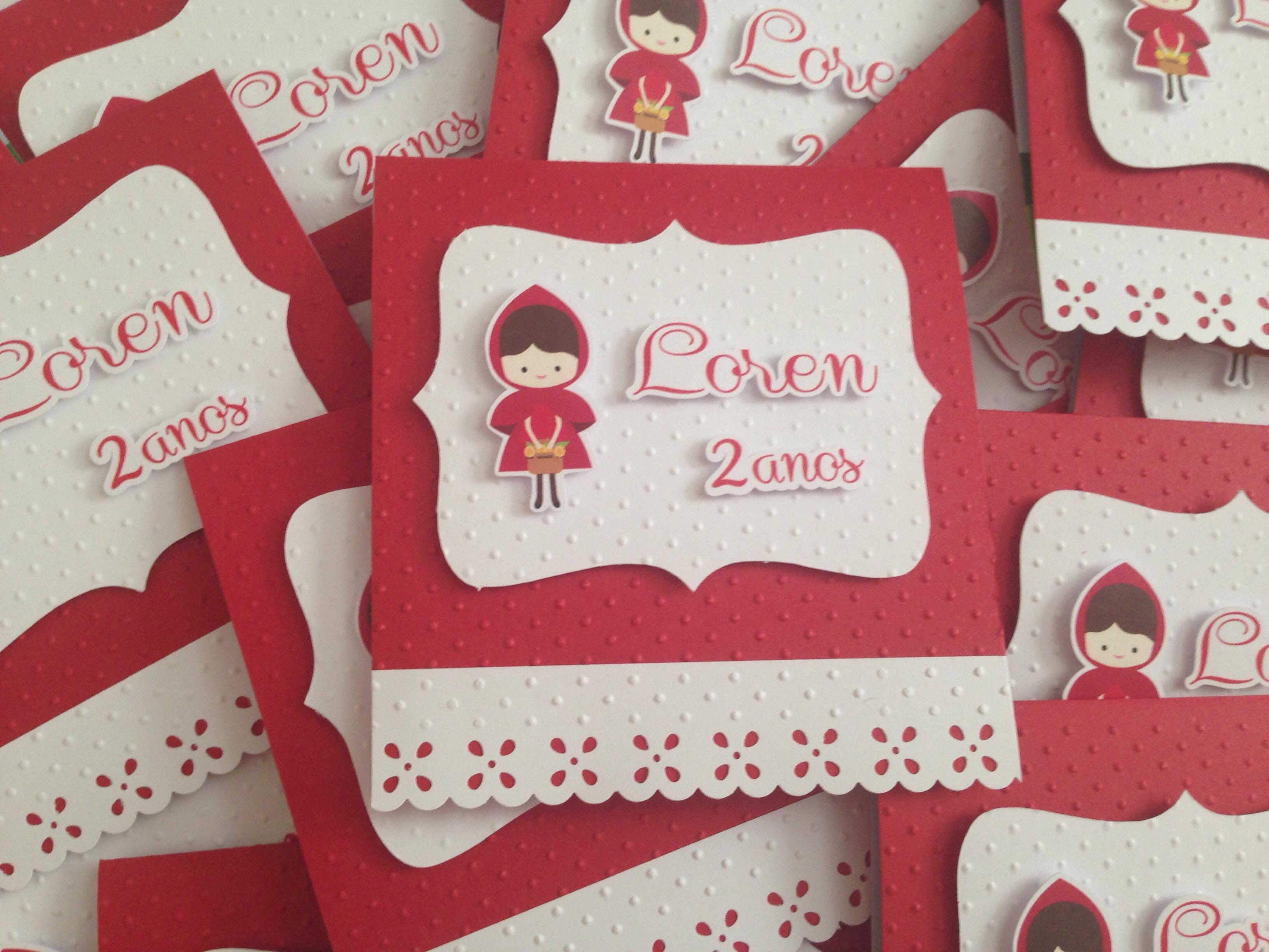 Extremamente Convite Chapeuzinho Vermelho - modelo 01 no Elo7 | LUCILEIA  OH47