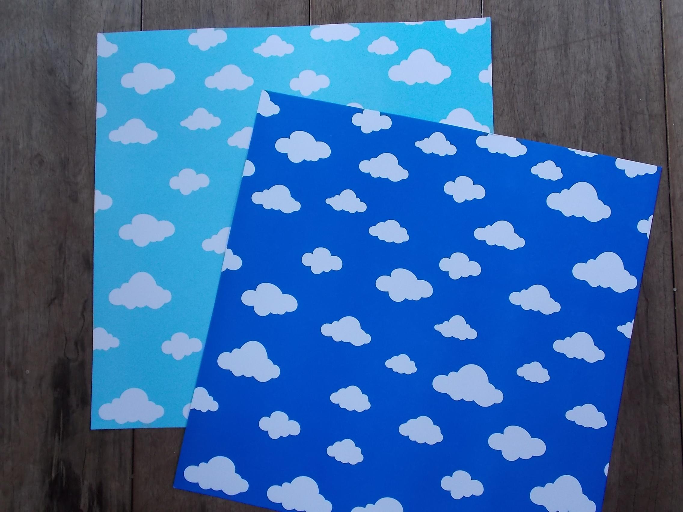 Papel Scrapbook Nuvens Ceu Azul Escuro No Elo7 Graciana