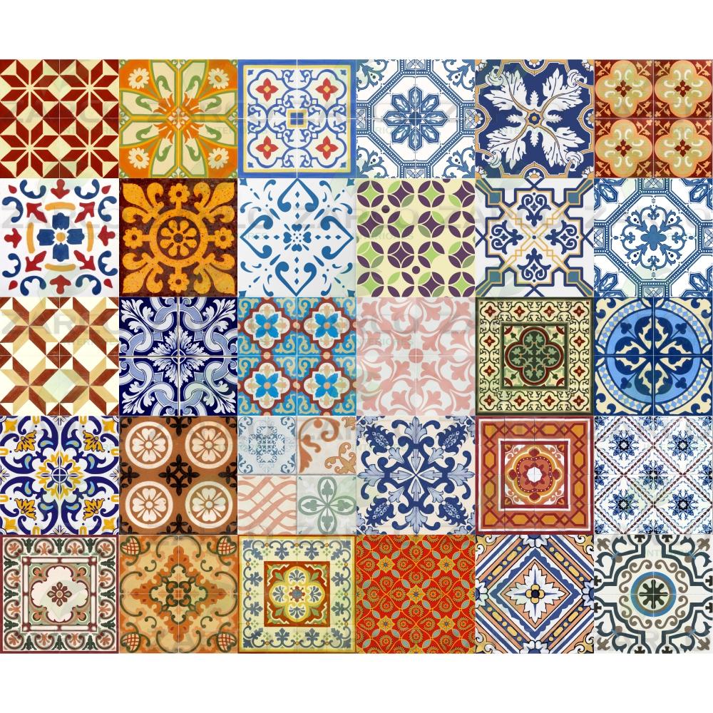 Adesivo azulejo portugu s ladrilho 15 cm zarco for Vinilo azulejo hidraulico