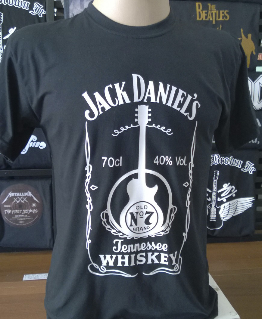 085cfd54e8d03 Camiseta Jack Daniels Guitarra no Elo7