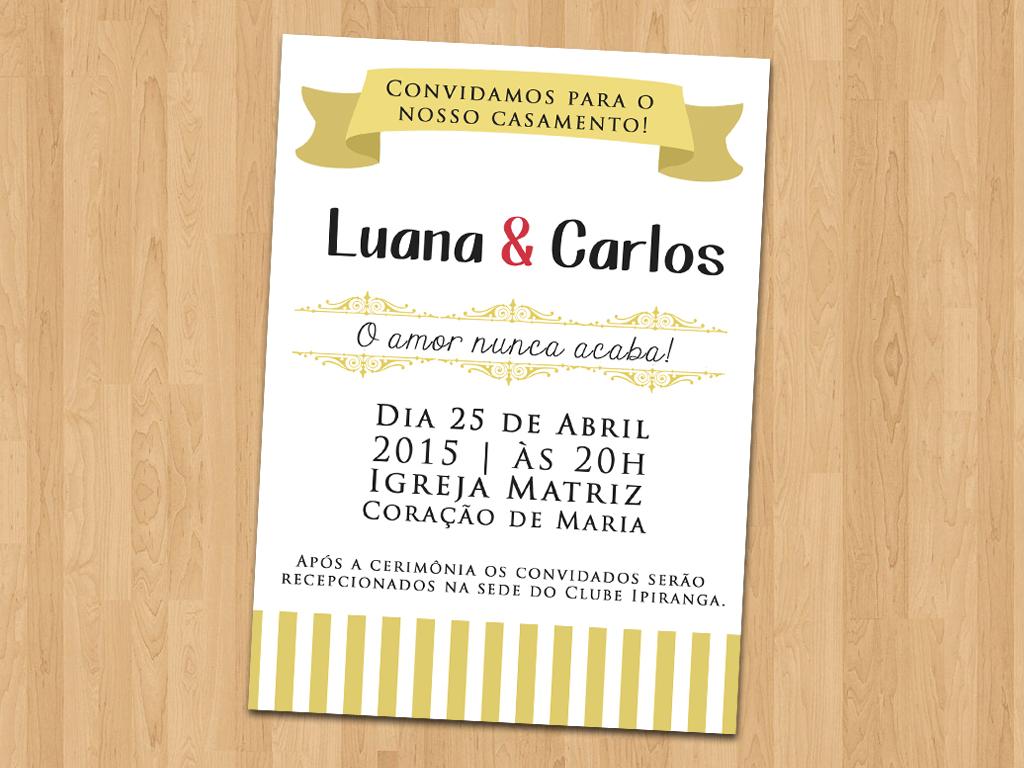 Convite Casamento Simples No Elo7 Ideal Convites 4d13f1