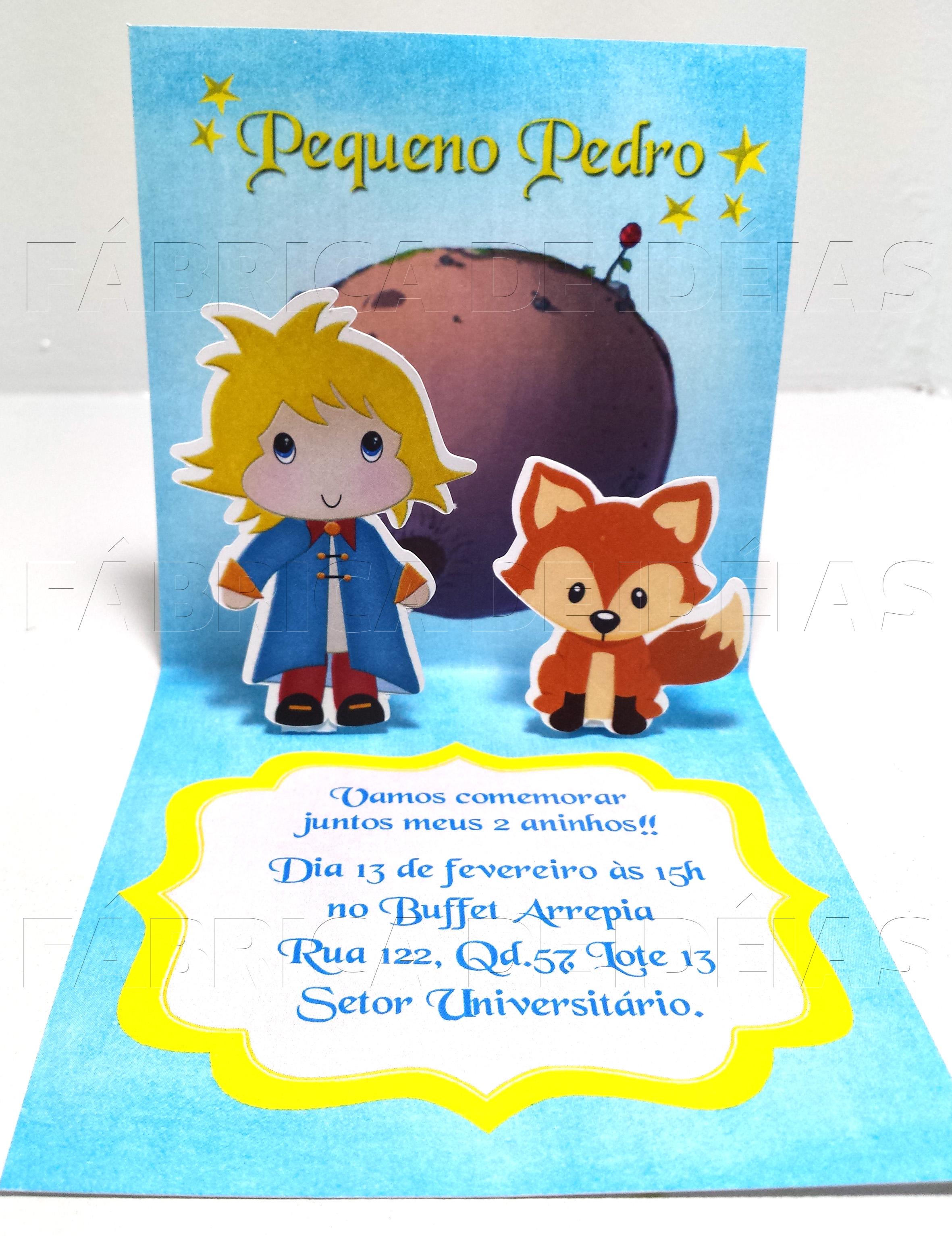 Convite Pequeno Príncipe 3D   FÁBRICA DE IDÉIAS - Produtos