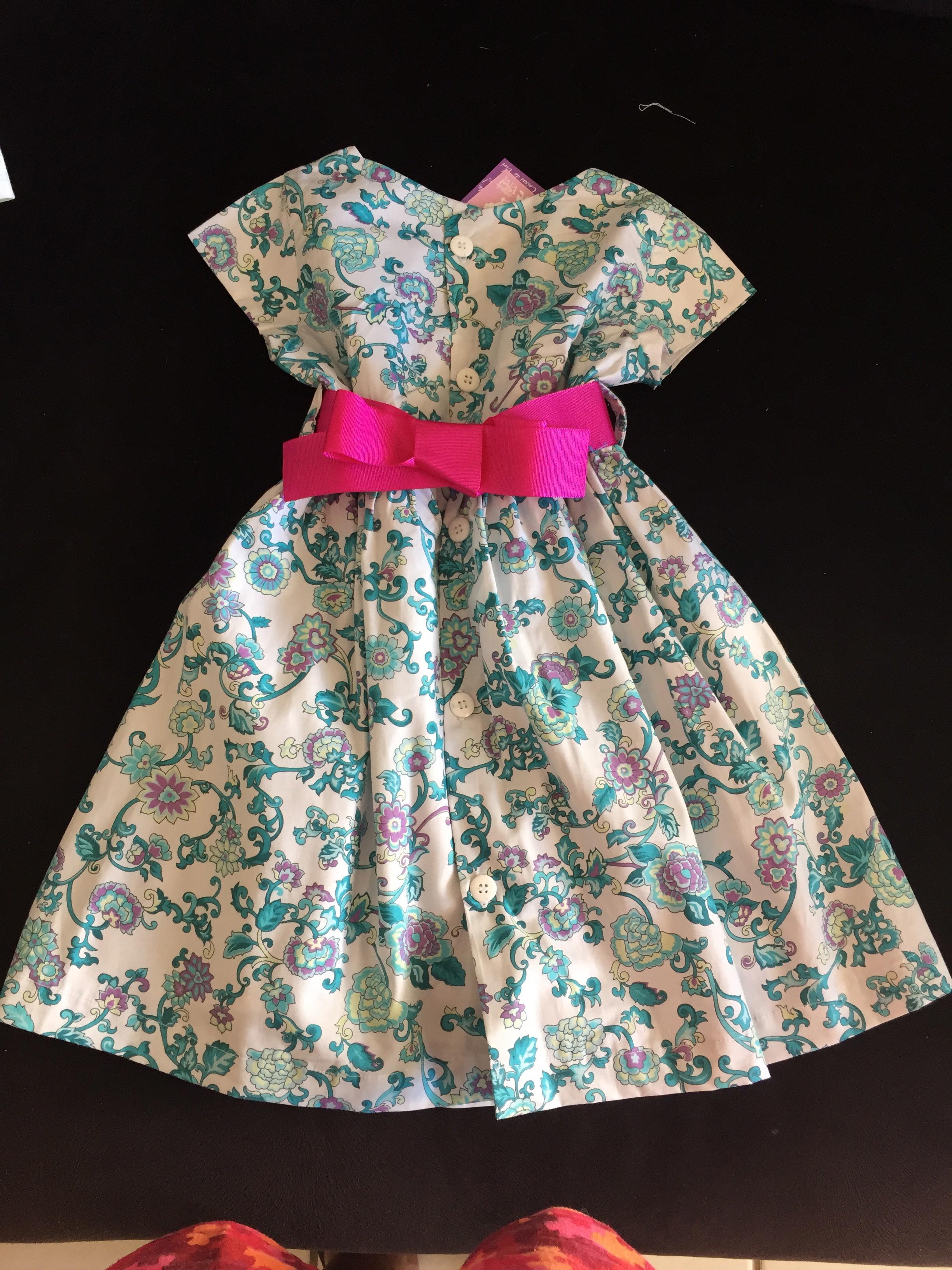 Populares Vestido Infantil com laço estampado no Elo7 | COISAS DE VIVI (4D5A3B) YY25
