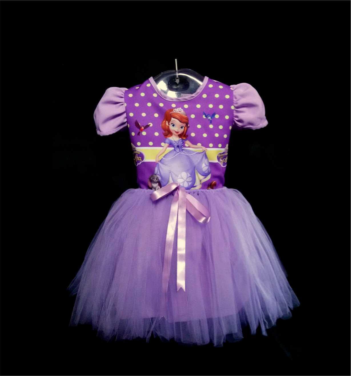 Vestido Infantil Princesa Sofia | Elo7