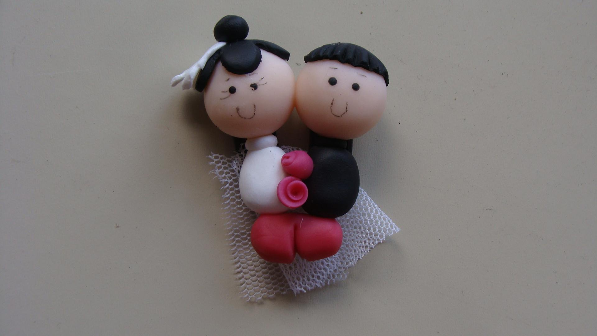 lembrancinha 10 casal de biscuit - casamento, noivado. Carregando zoom.