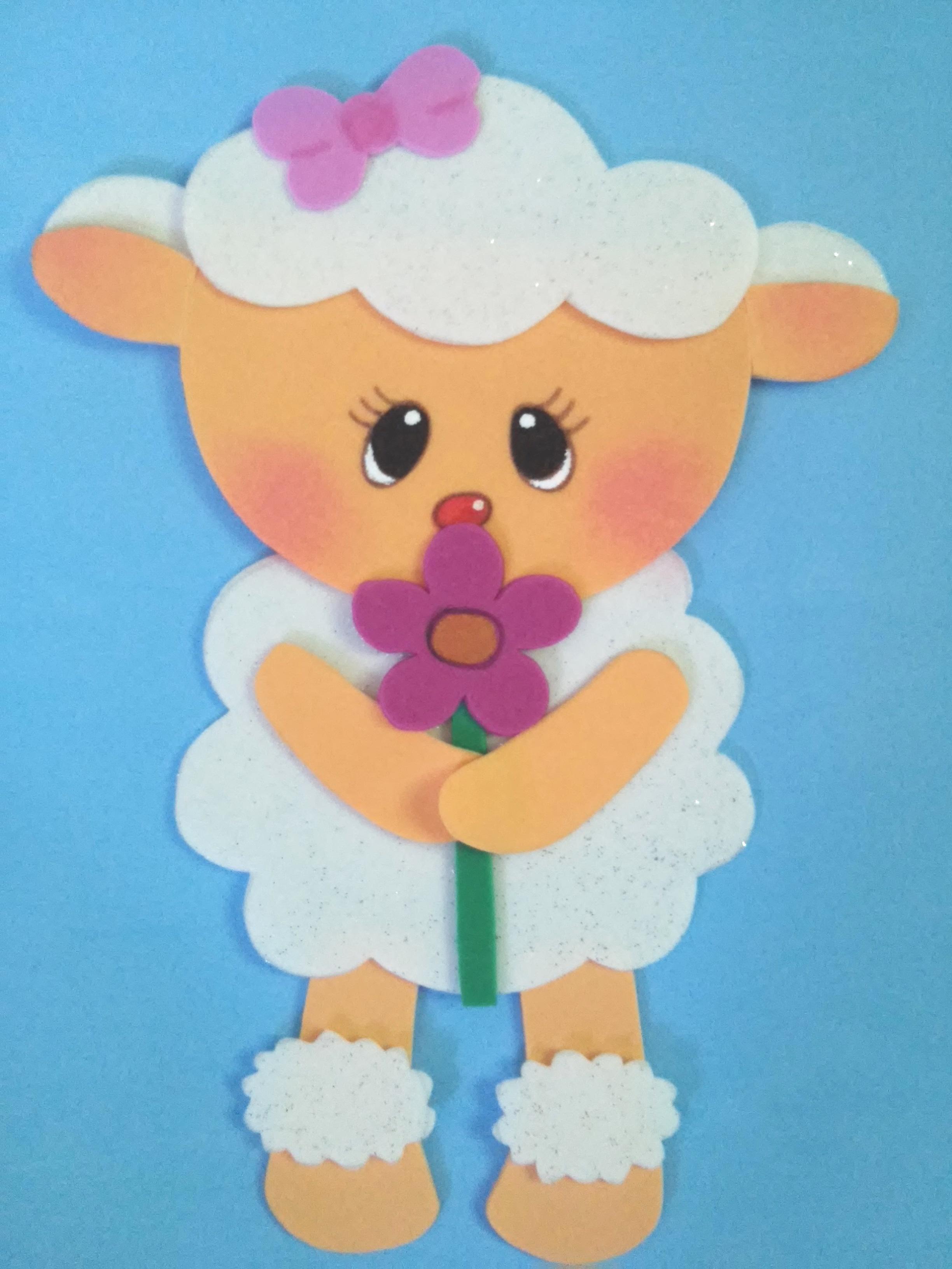 Aplique ovelha fofa arts da gi elo7 - Apliques infantiles de pared ...