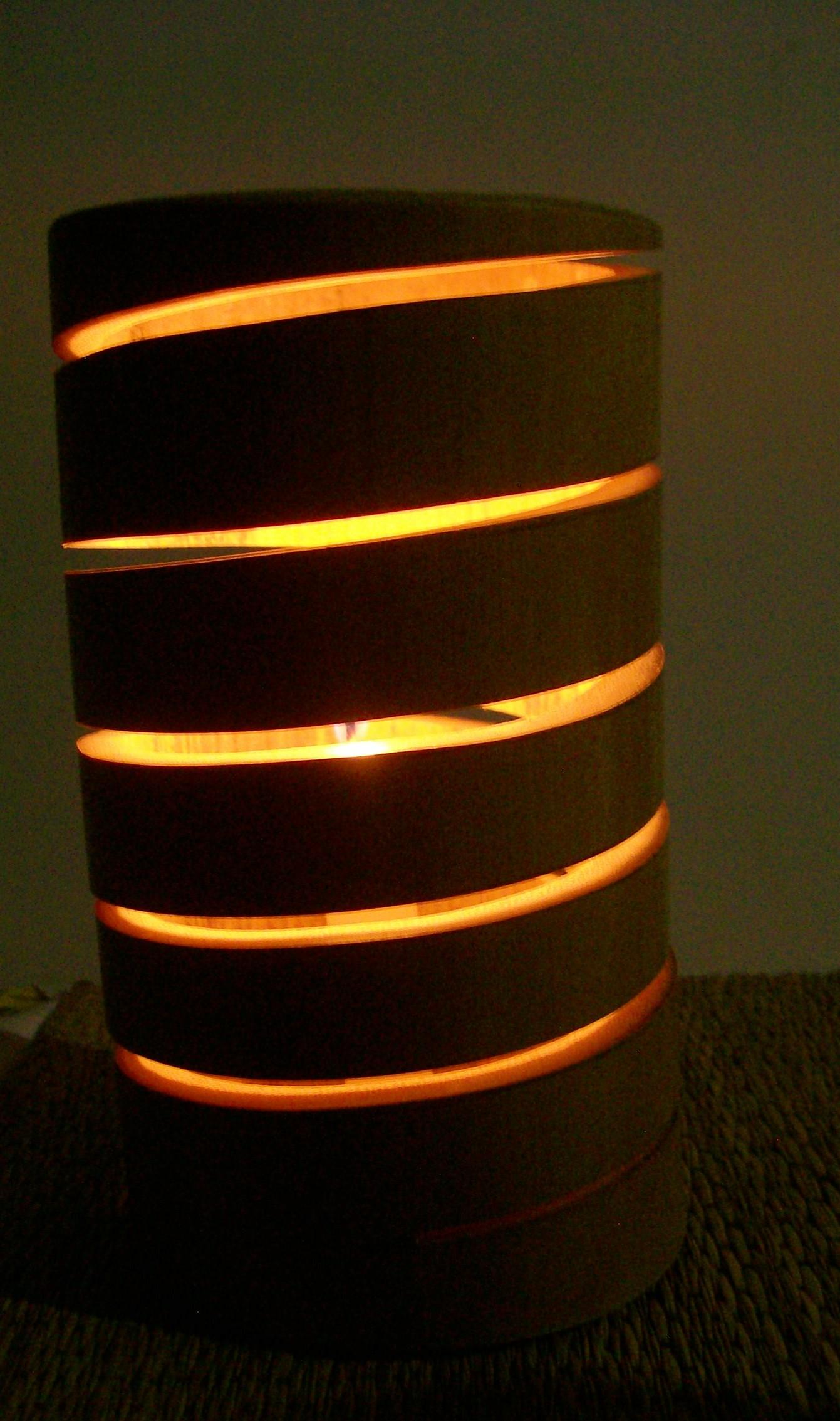 Artesanato Em Florianopolis Sc ~ luminária espiral bambu Alma Elo7