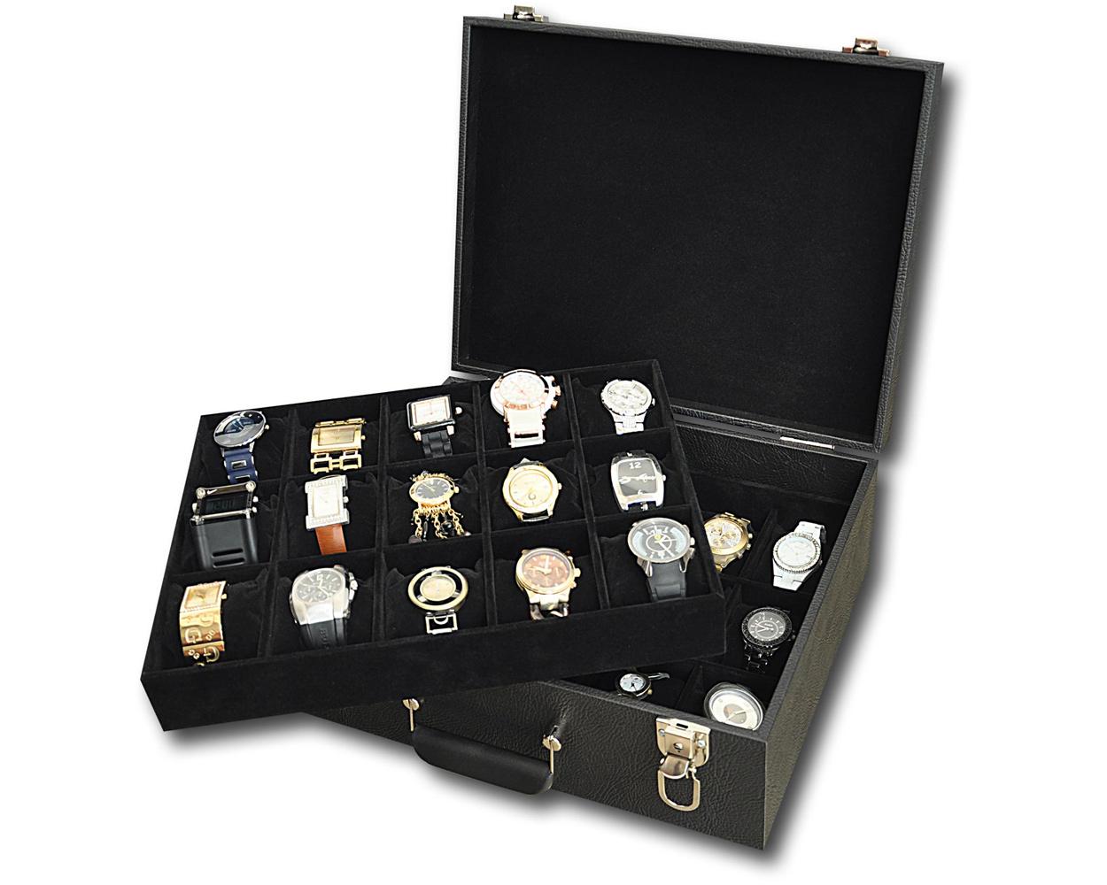 b68674a96 Caixa para 8 relógios com expositor no Elo7 | Estojoias - Embalagens para  Joias (4E8F1B)