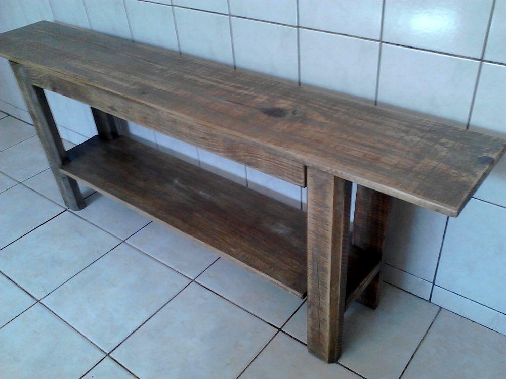 Armario De Nenuco Carrefour ~ Aparador de madeira rústico Aconchegando Ateli u00ea Croche Elo7