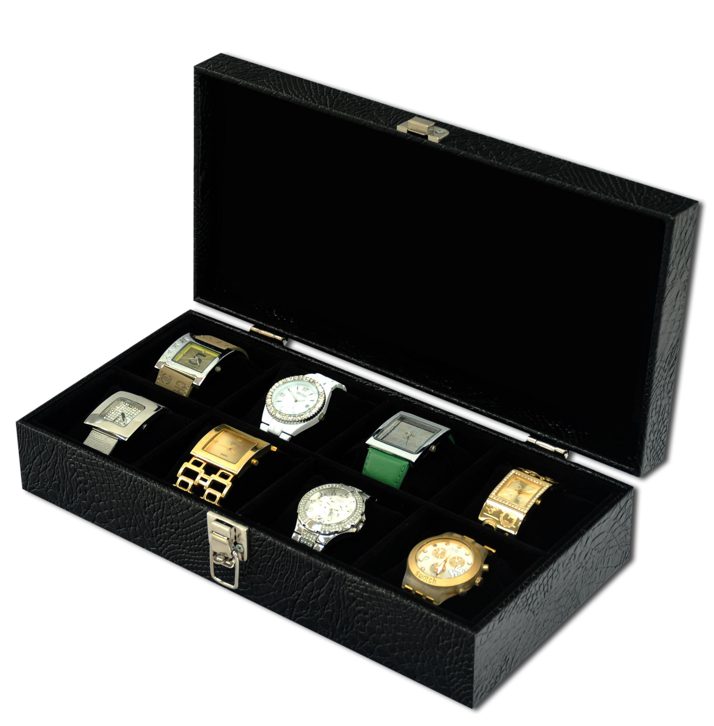 43ca8894f Porta Relógios para 8 relógios no Elo7